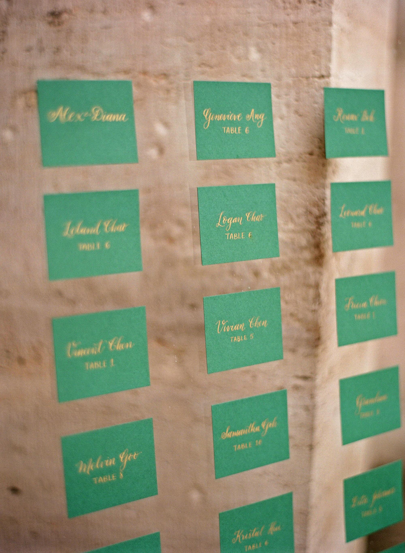 diana alex wedding escort cards lucite