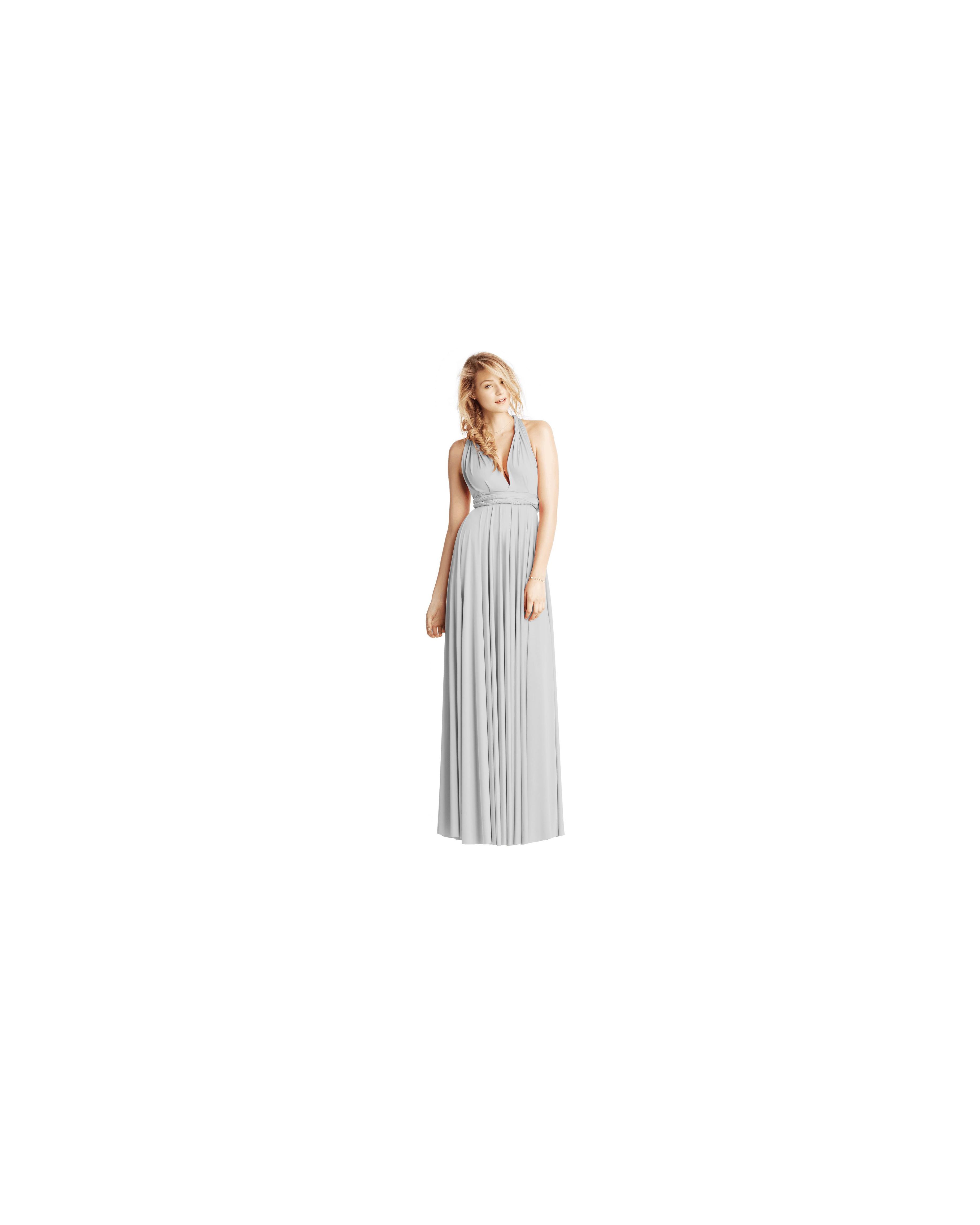 grey silver bridesmaid dresses twobirds classic ballgown