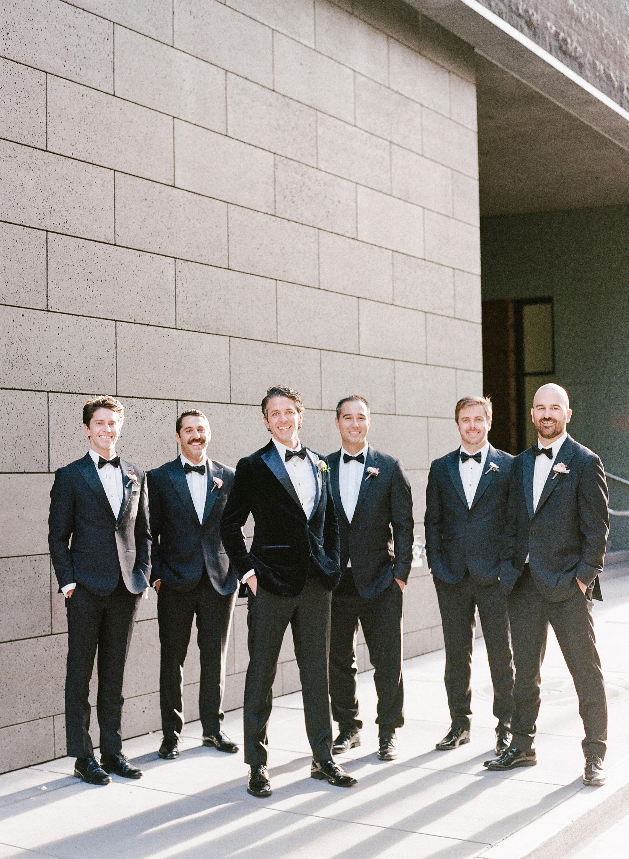 katie andre wedding groomsmen group