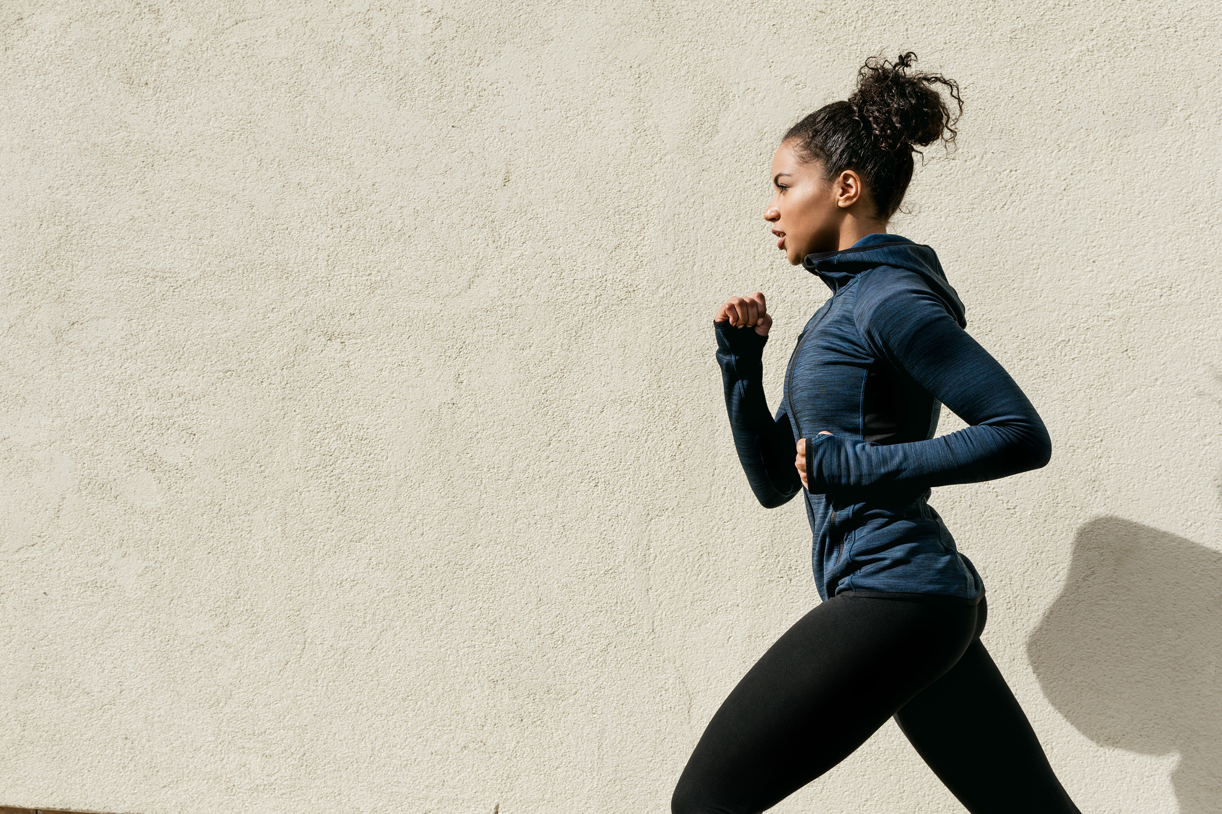 Woman Running, Working Out Outside