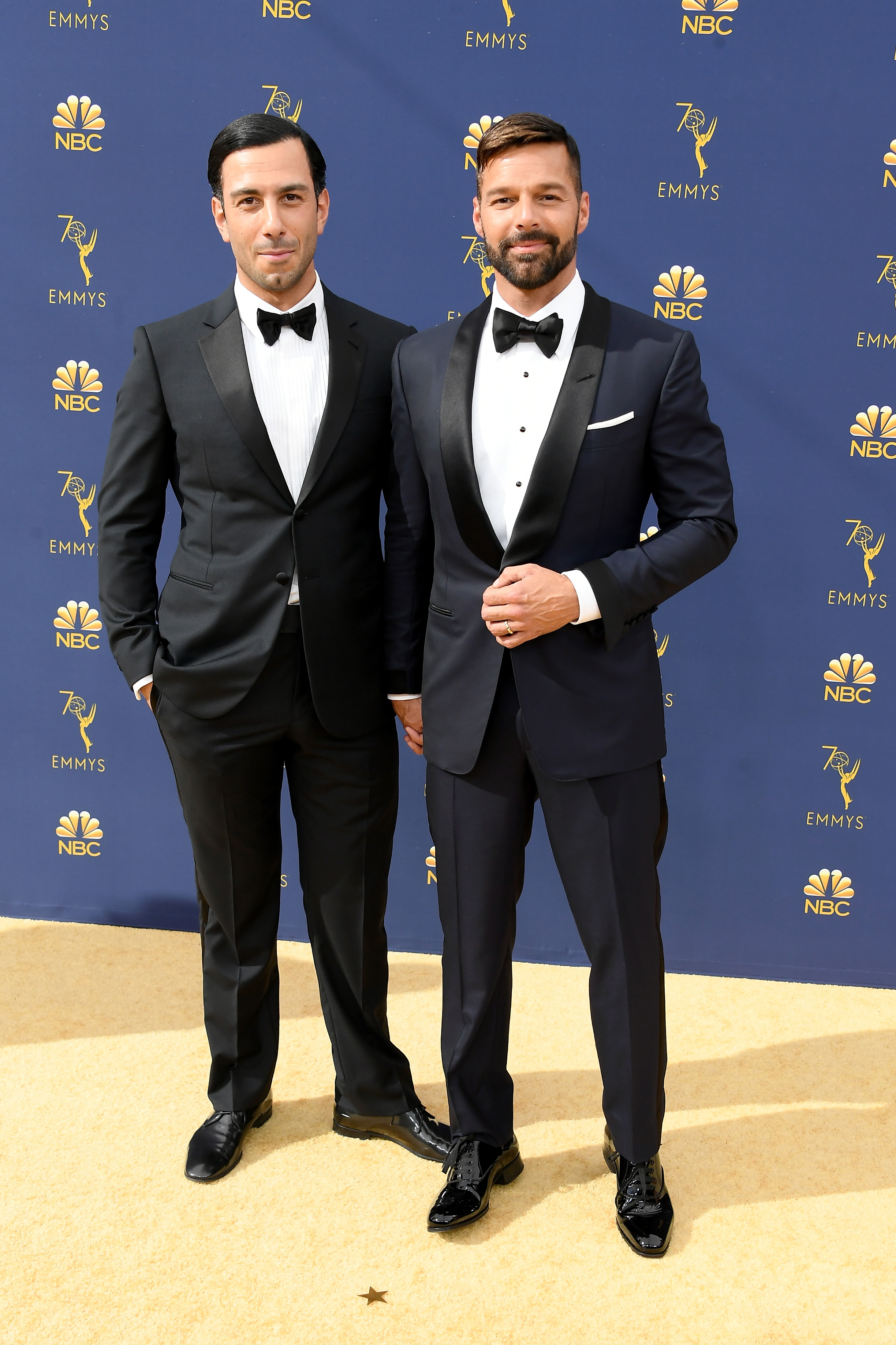 ricky martin and jwan yosef at the 2018 emmys