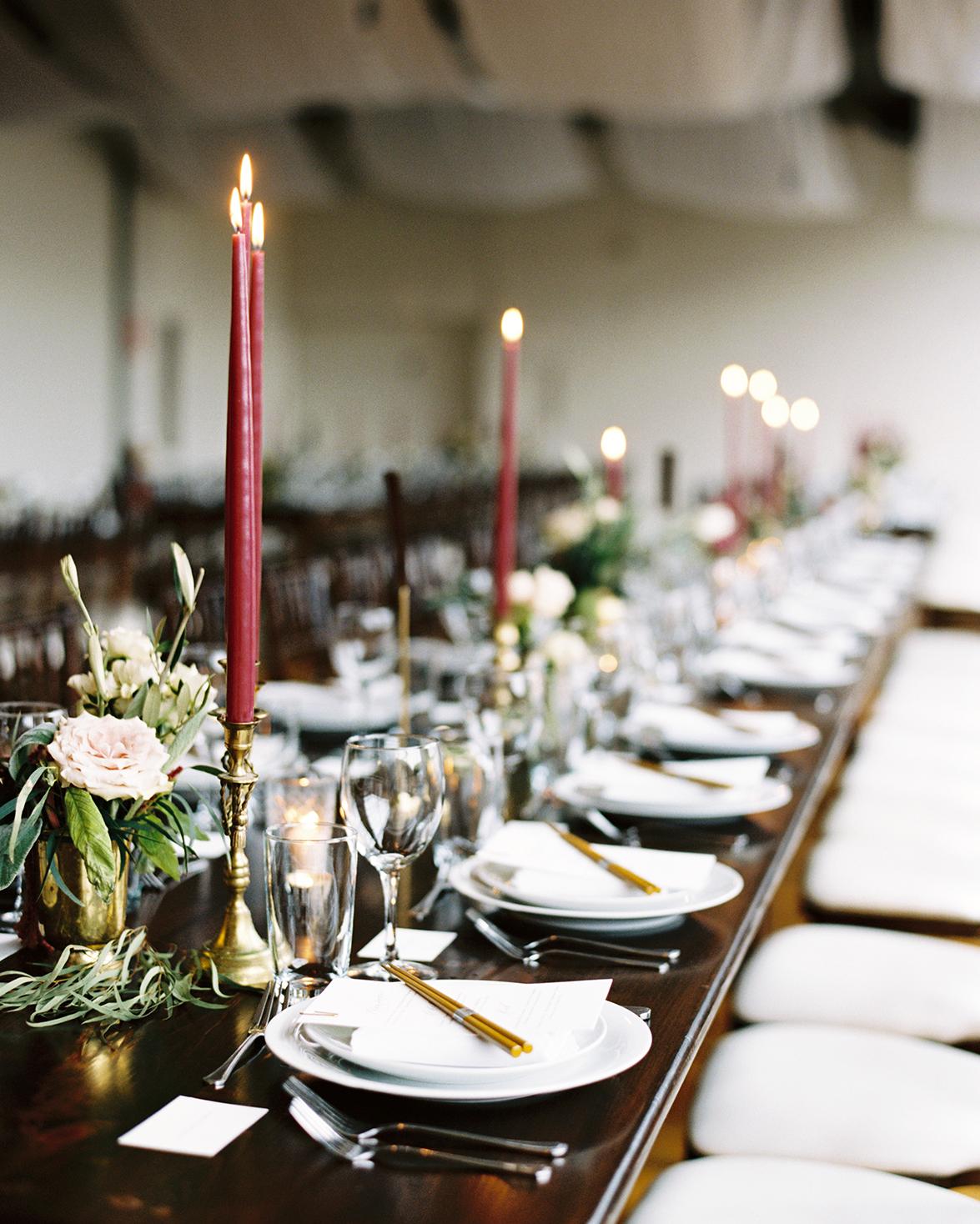 joanna jay wedding reception banquet table