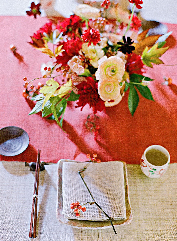 addie richard wedding japan table setting