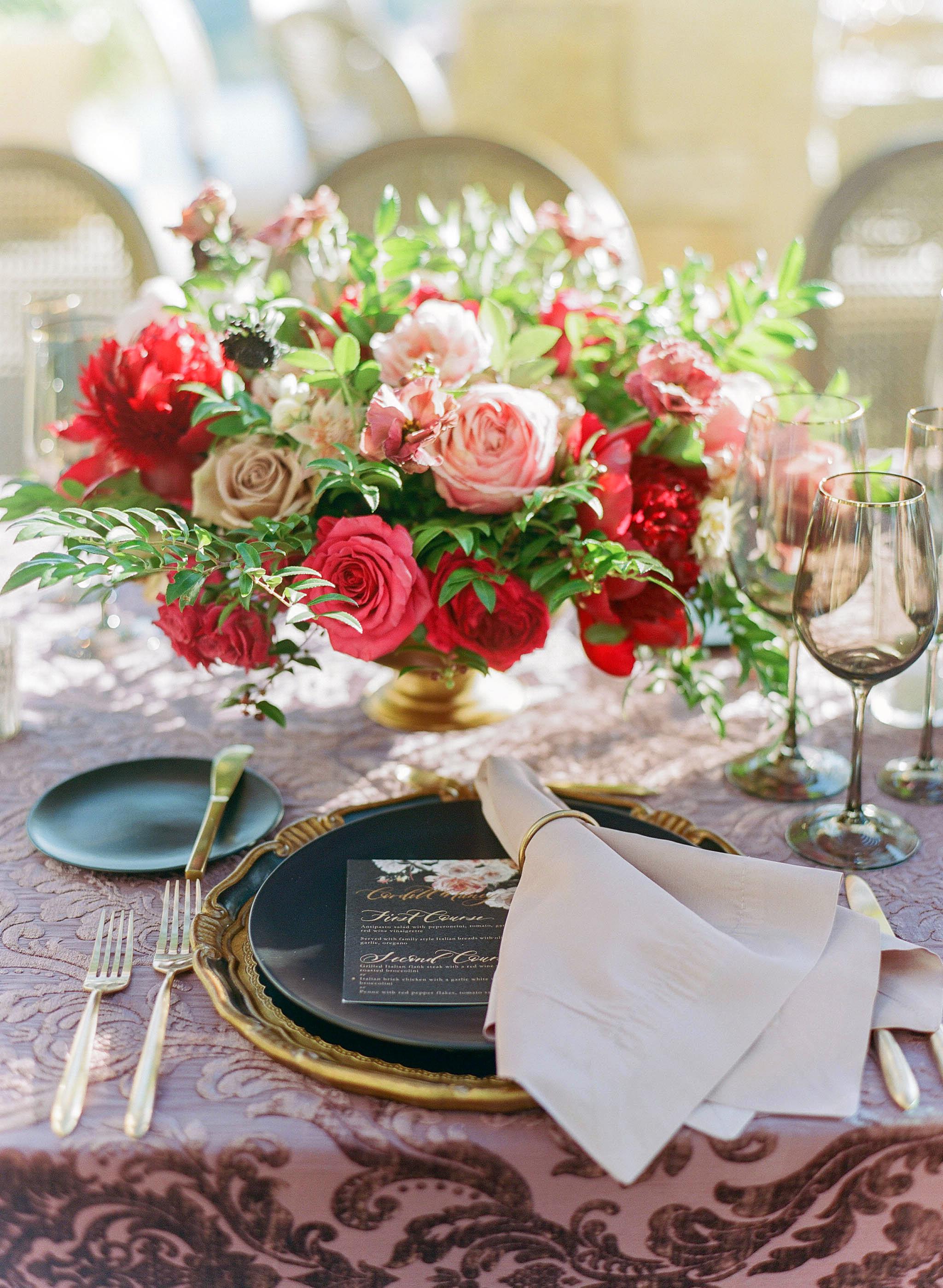 tillie dalton wedding reception table setting