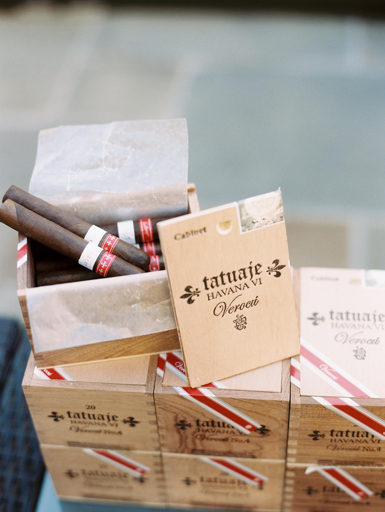 jessica brian wedding cigars