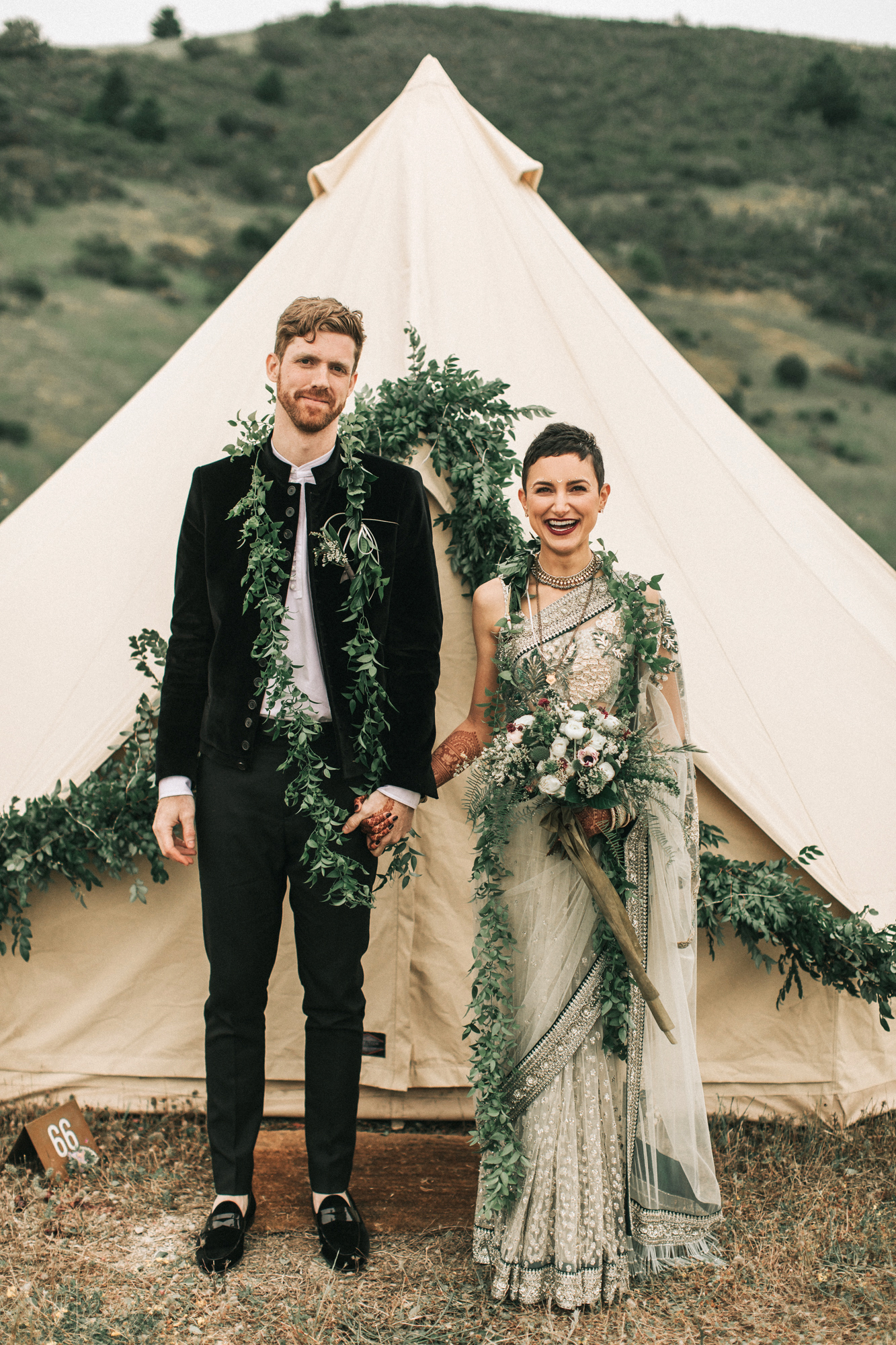 zai phil camping wedding couple bride groom tent