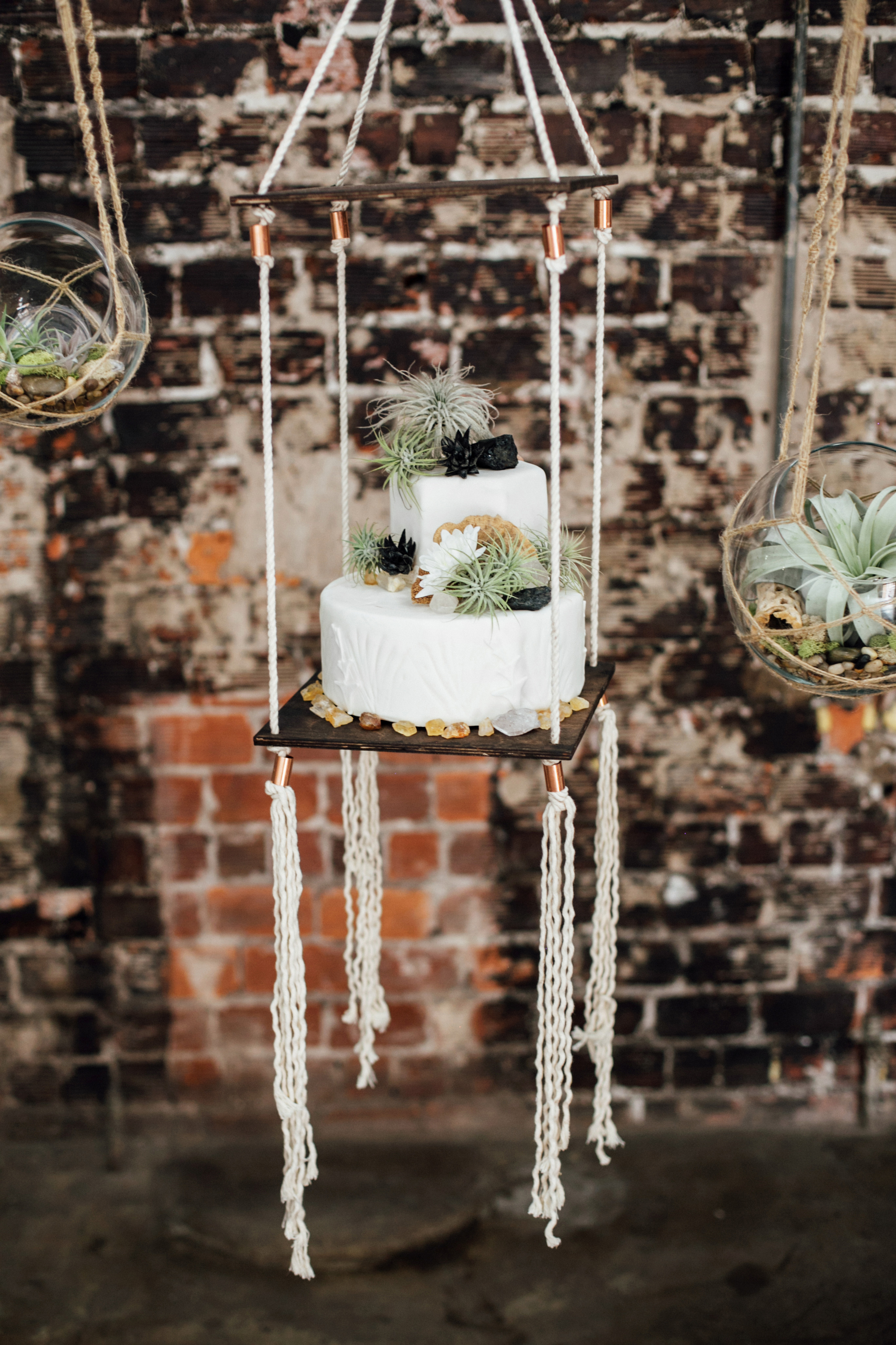 suspended wedding cake tables monika gauthier