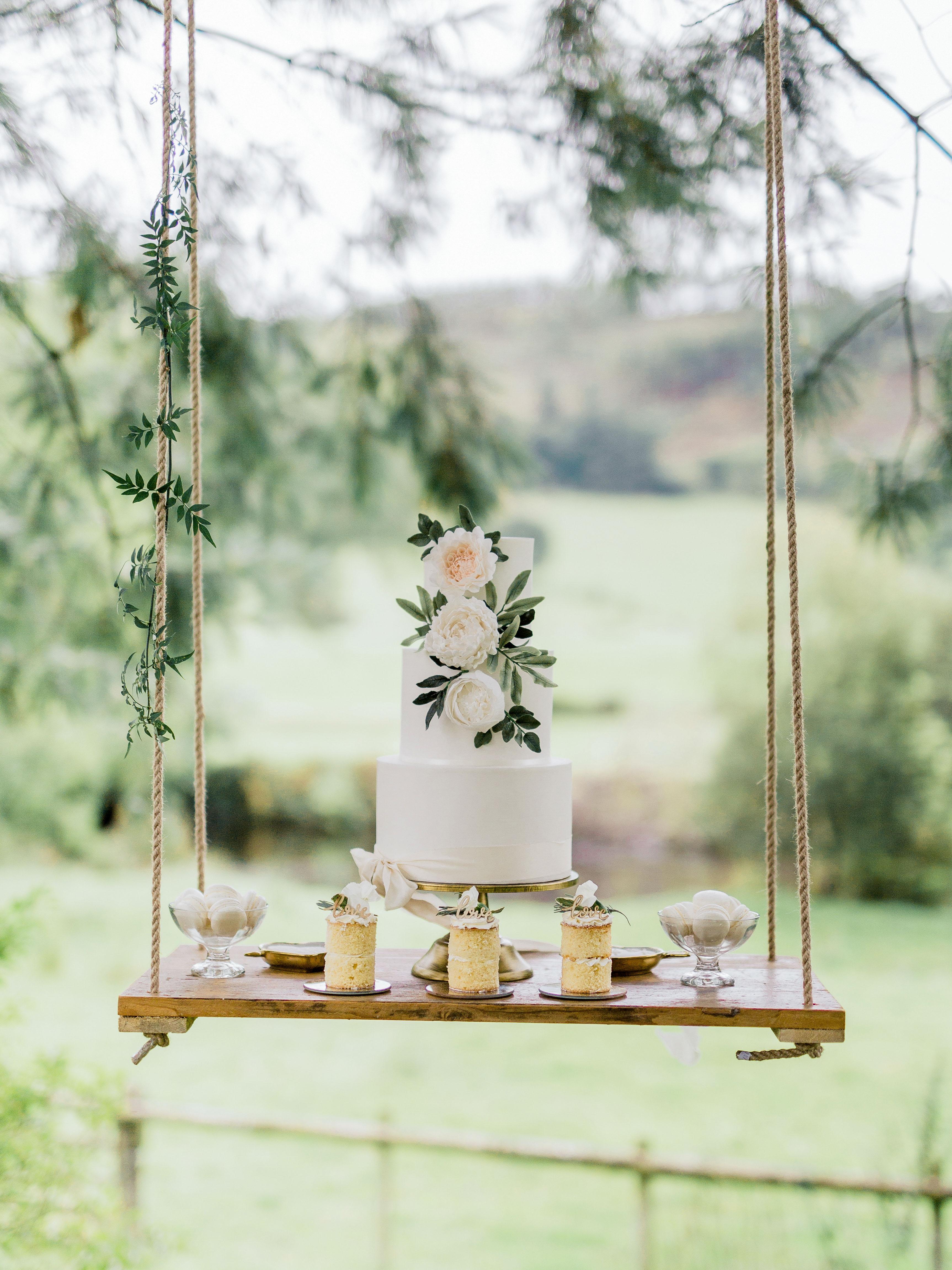 suspended wedding cake tables heledd roberts