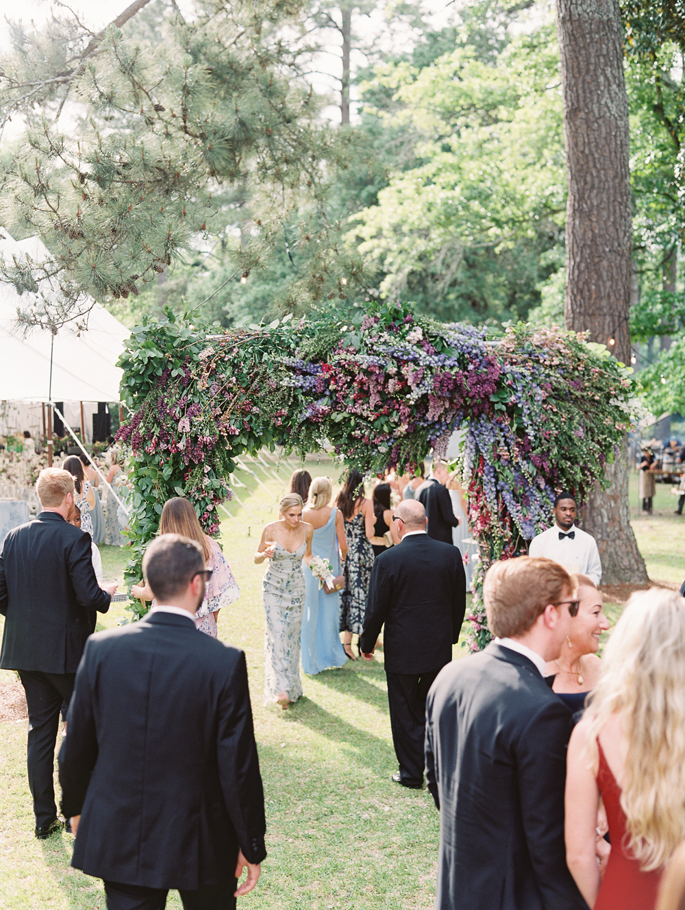 julia mitchell wedding guests cocktail hour