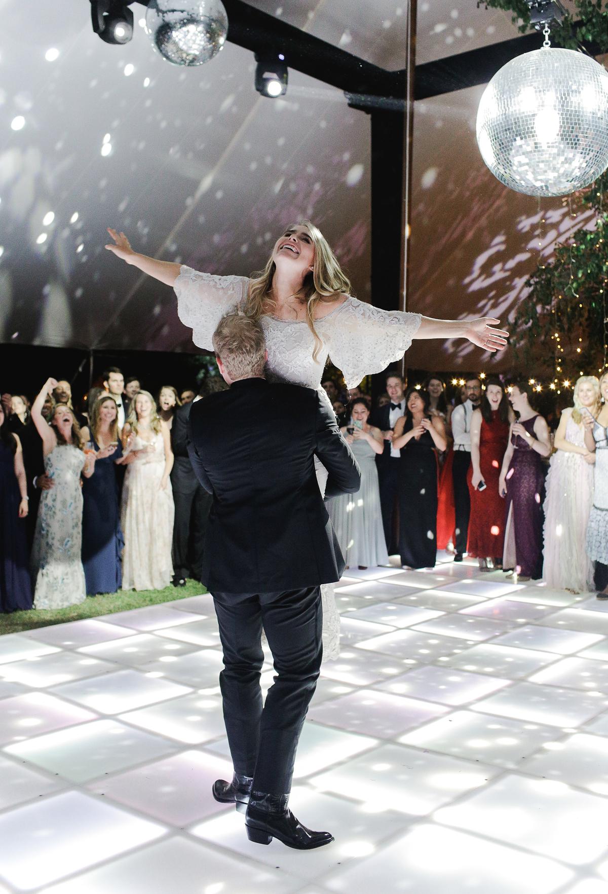 julia mitchell wedding first dance lift