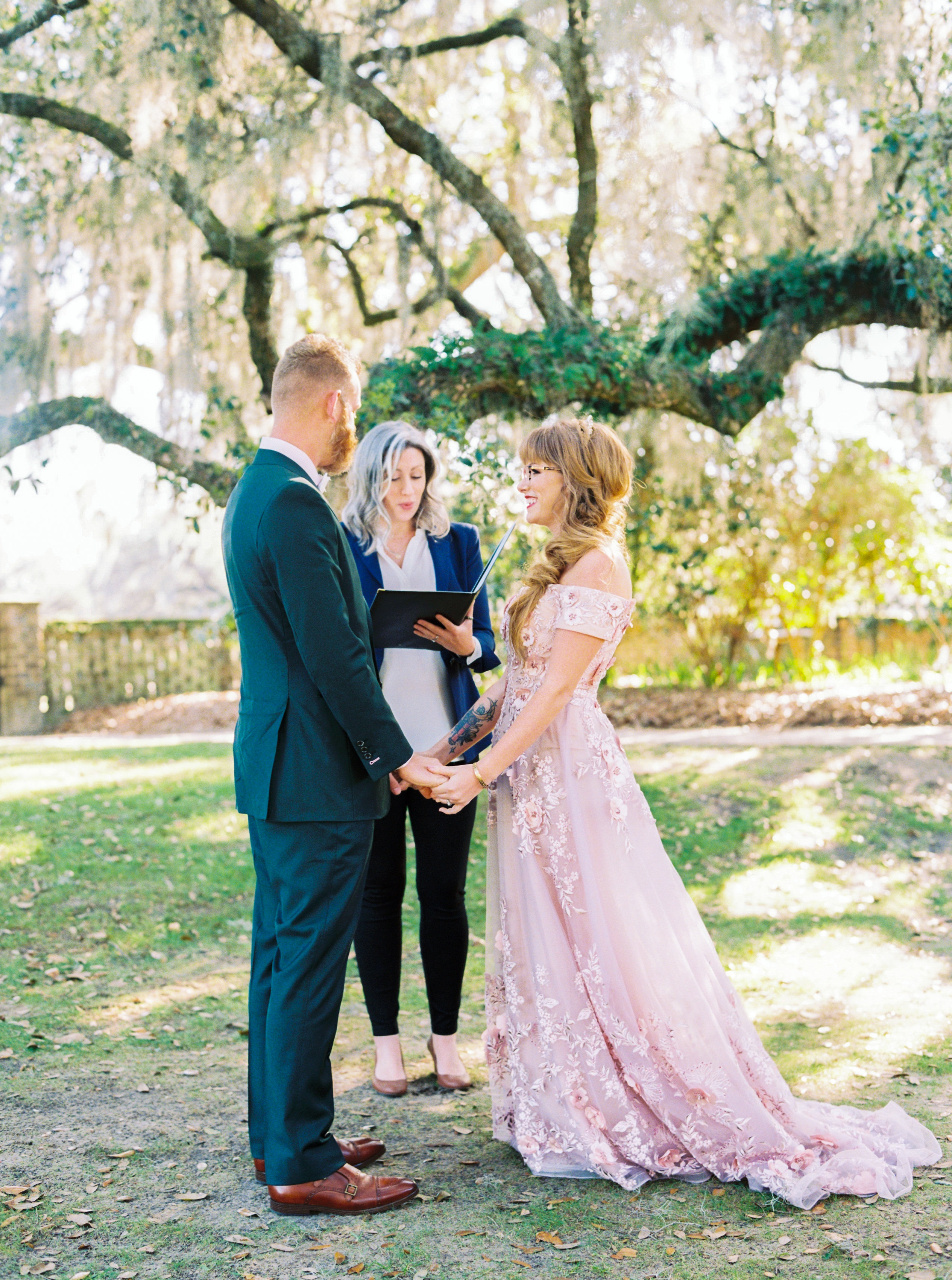 catherine john micro wedding ceremony couple perry vaile