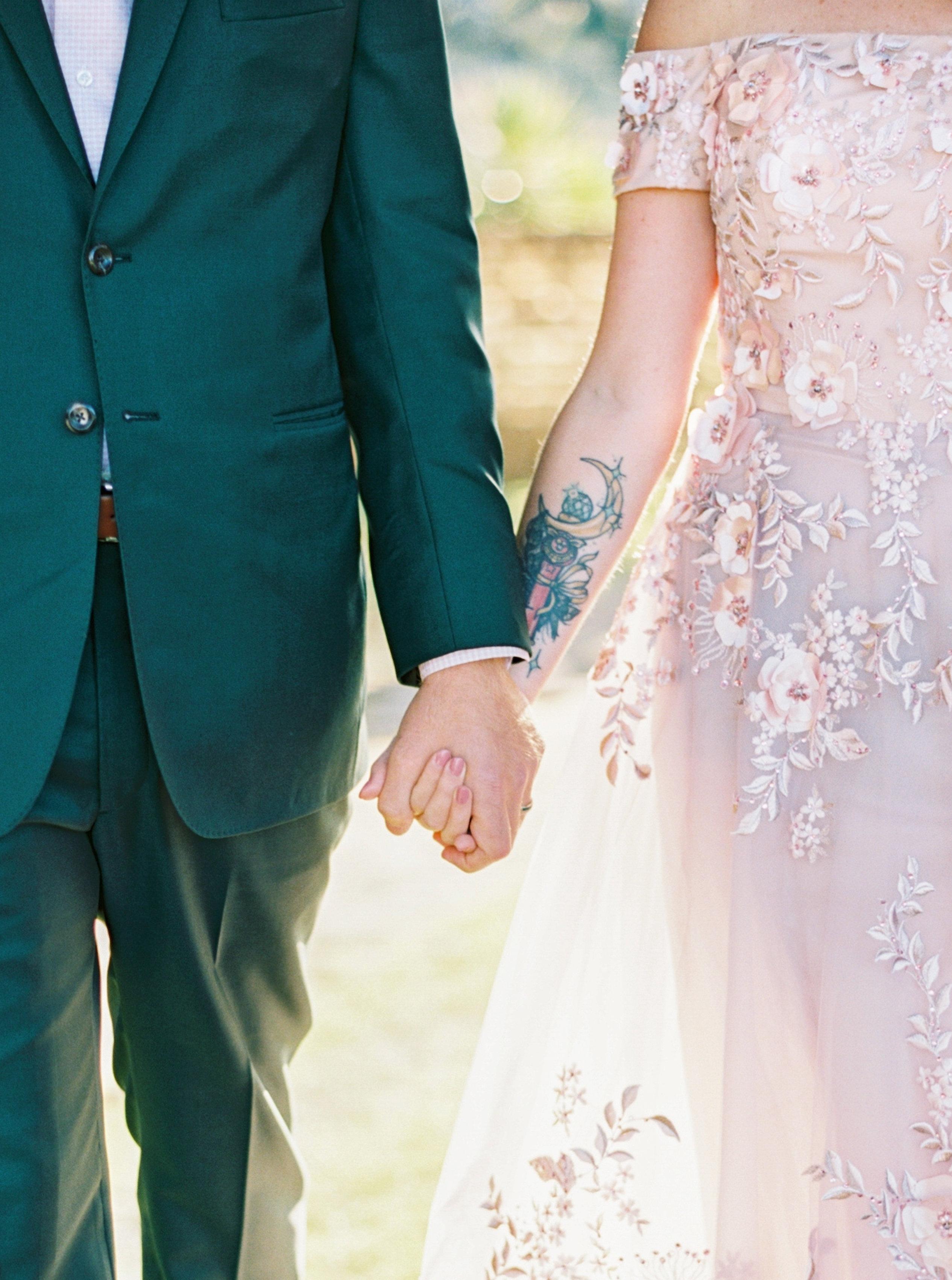 catherine john micro wedding couple hands perry vaile