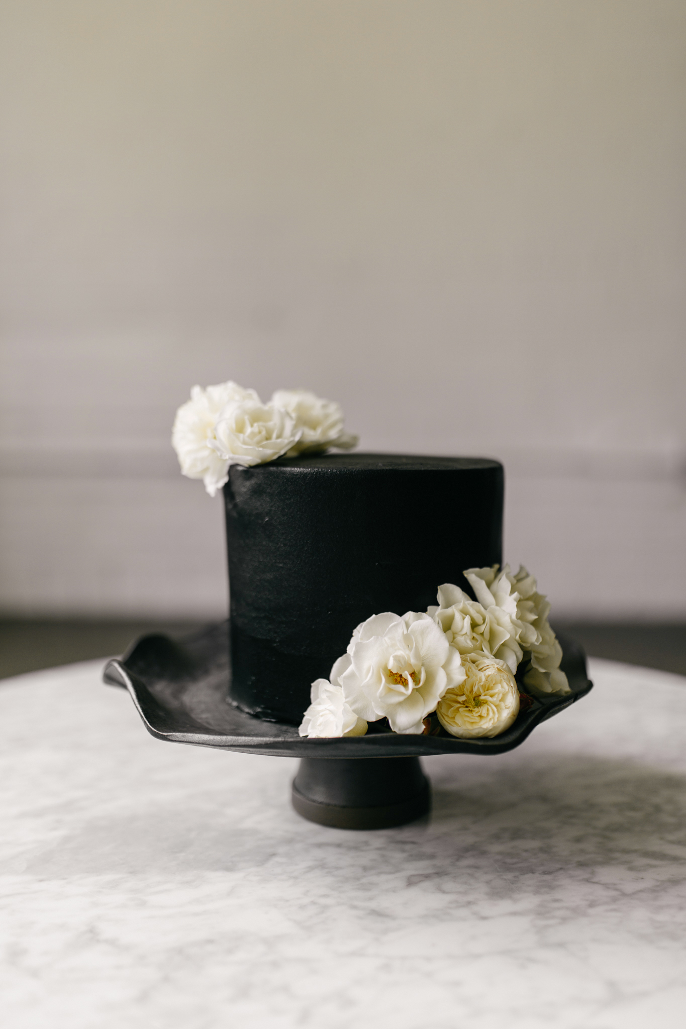 black wedding cake sarah ascanio copperhen