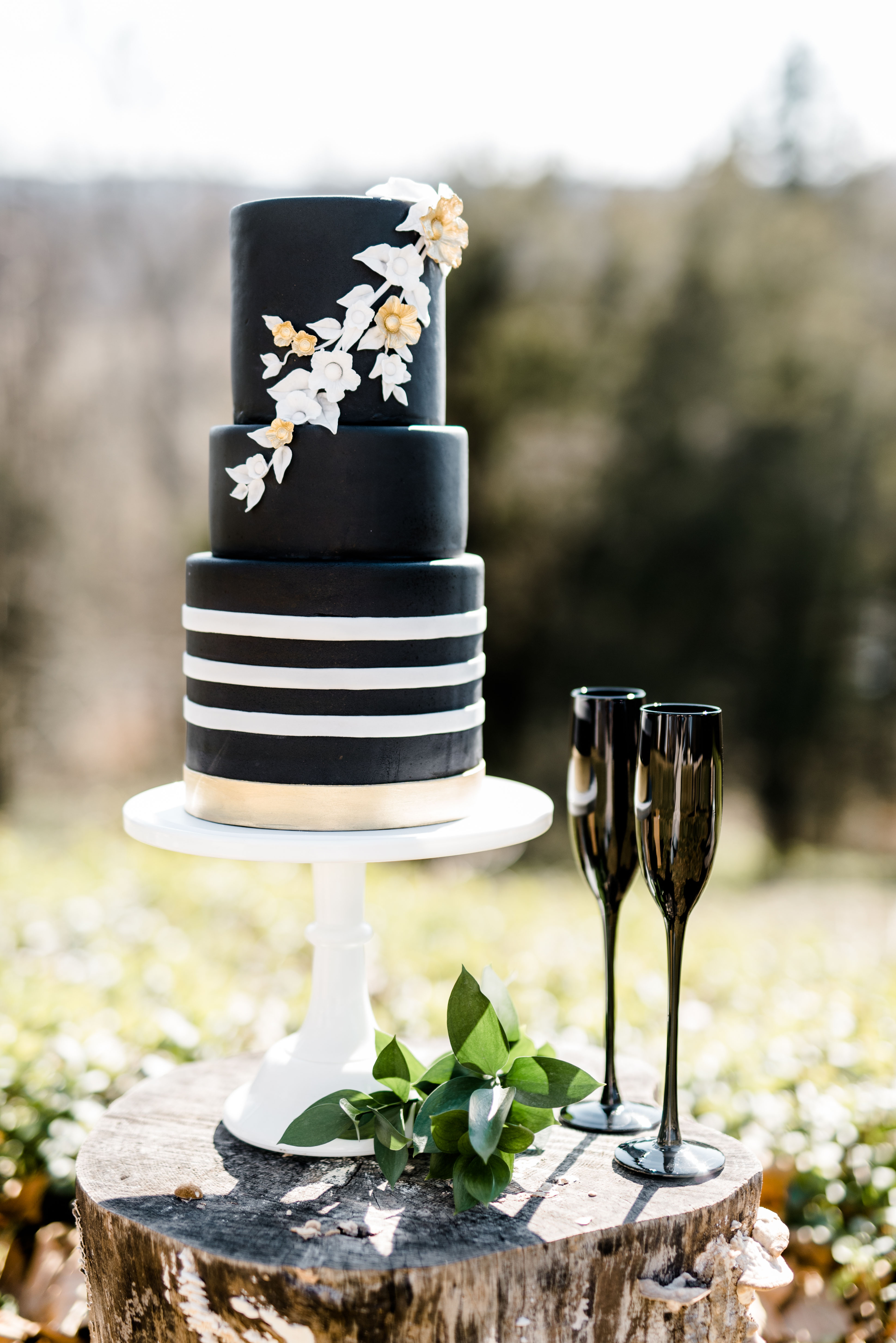 black wedding cake caroline lima sweetfix