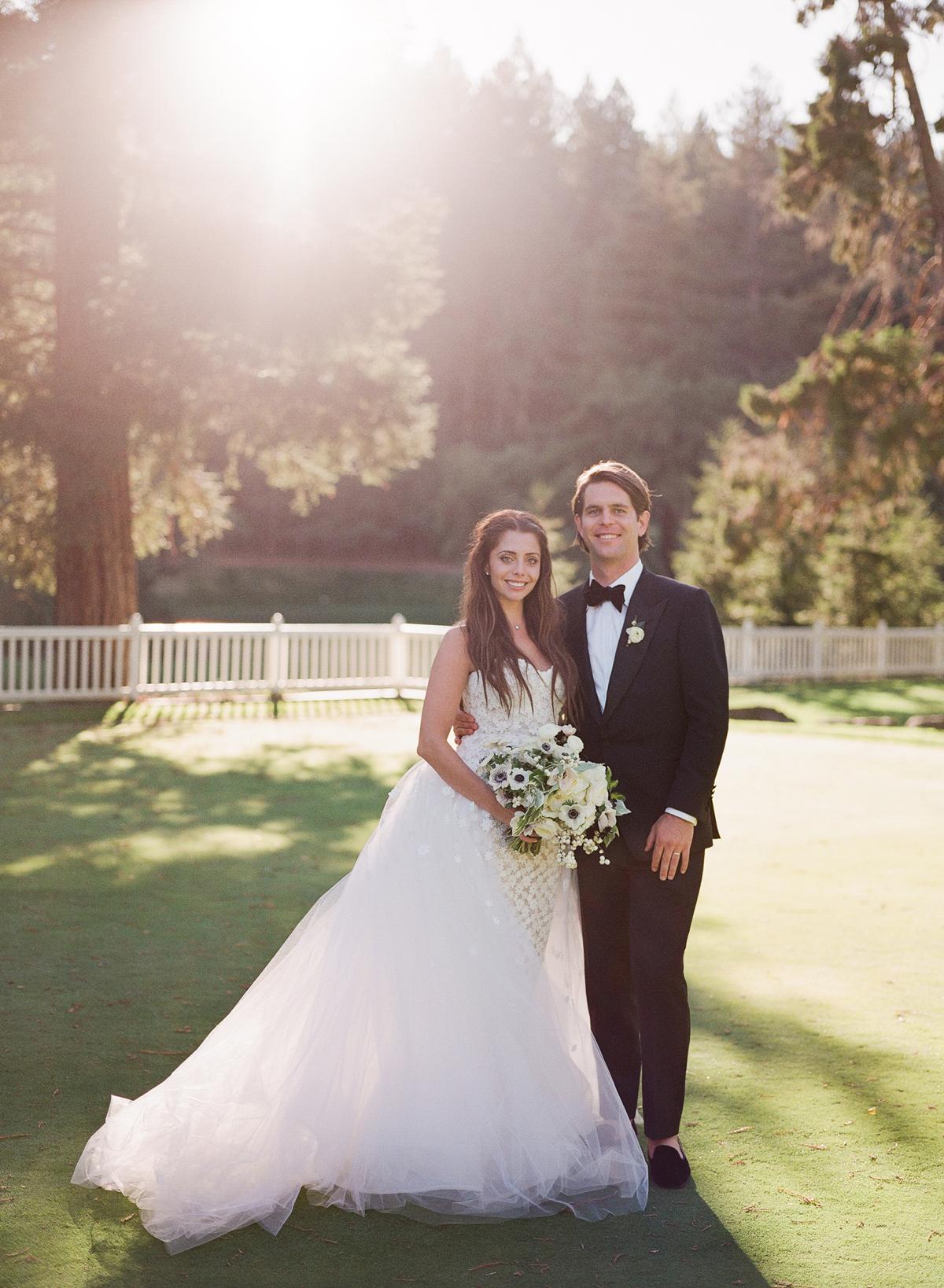 alessa andrew wedding couple smiling