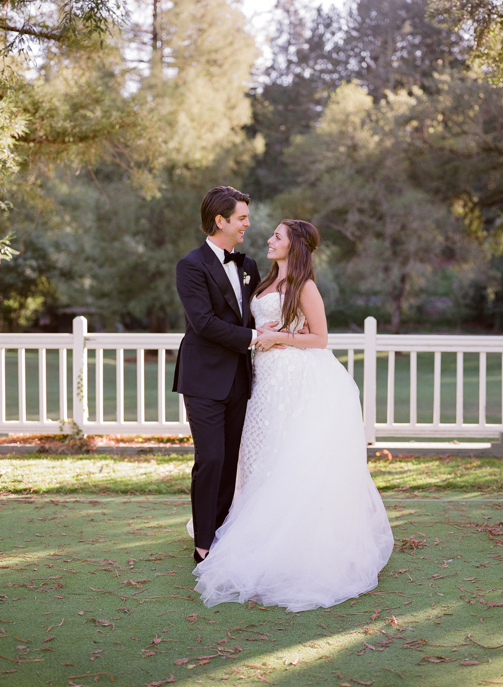 alessa andrew wedding couple looking at one another