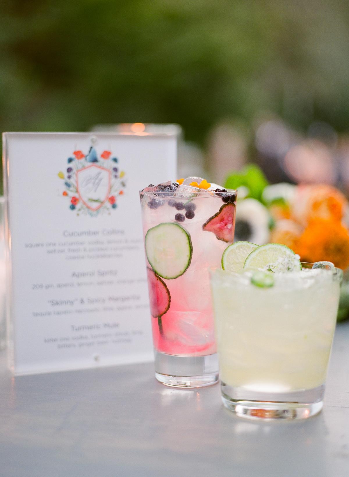 alessa andrew wedding cocktails