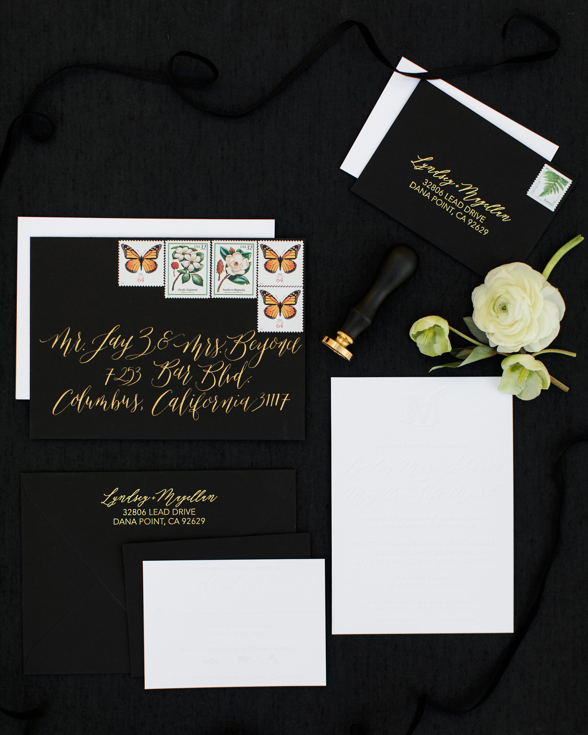 lyndsey magellan wedding invitation