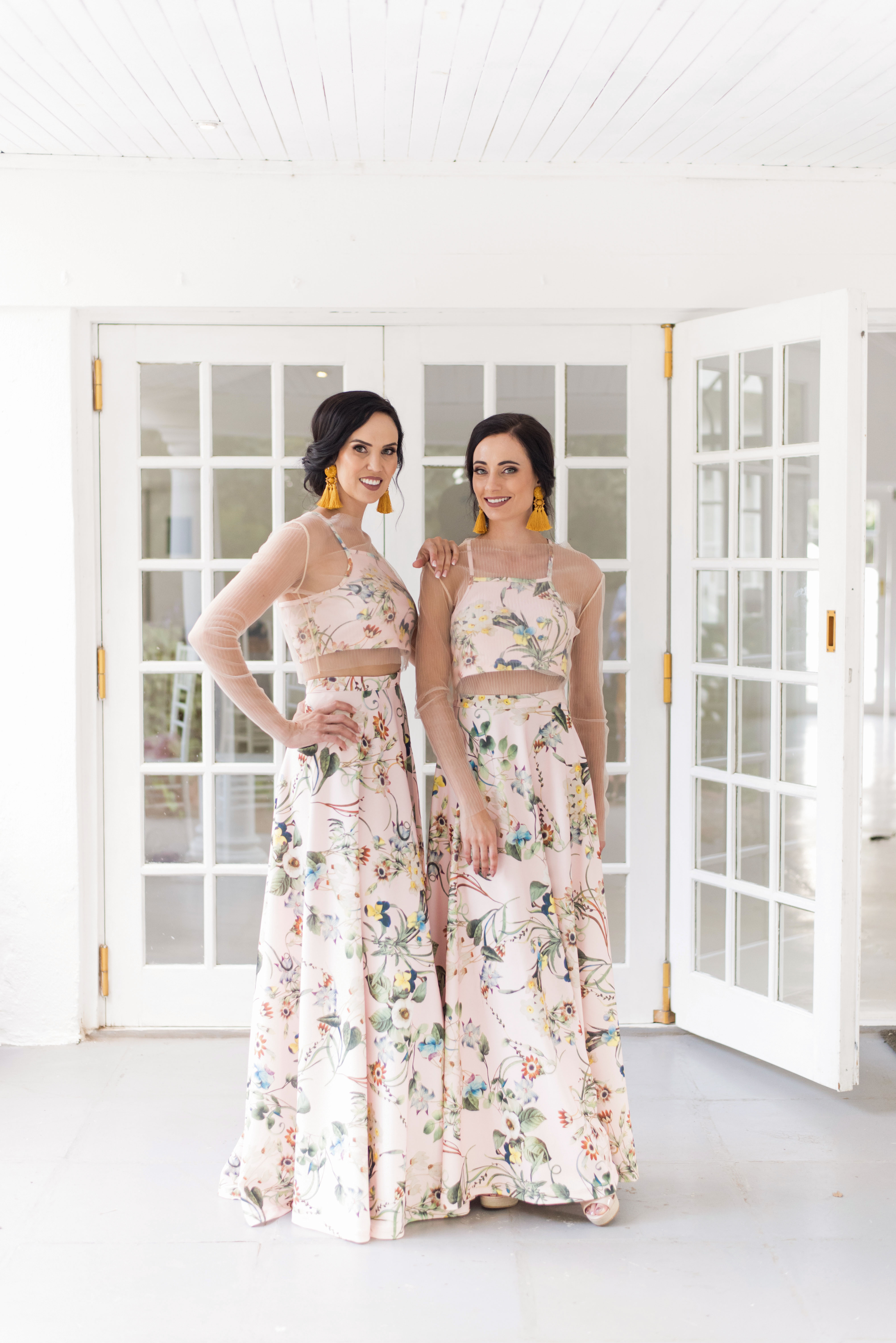 Trending Now: Two-Piece Bridesmaids' Looks