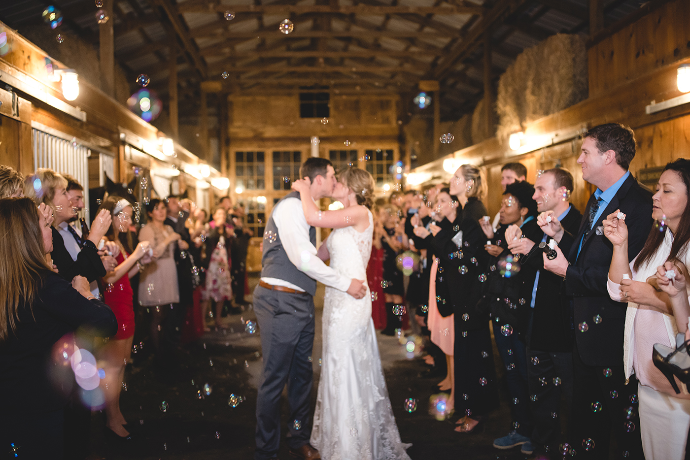brewery wedding venues couple bubbles exit