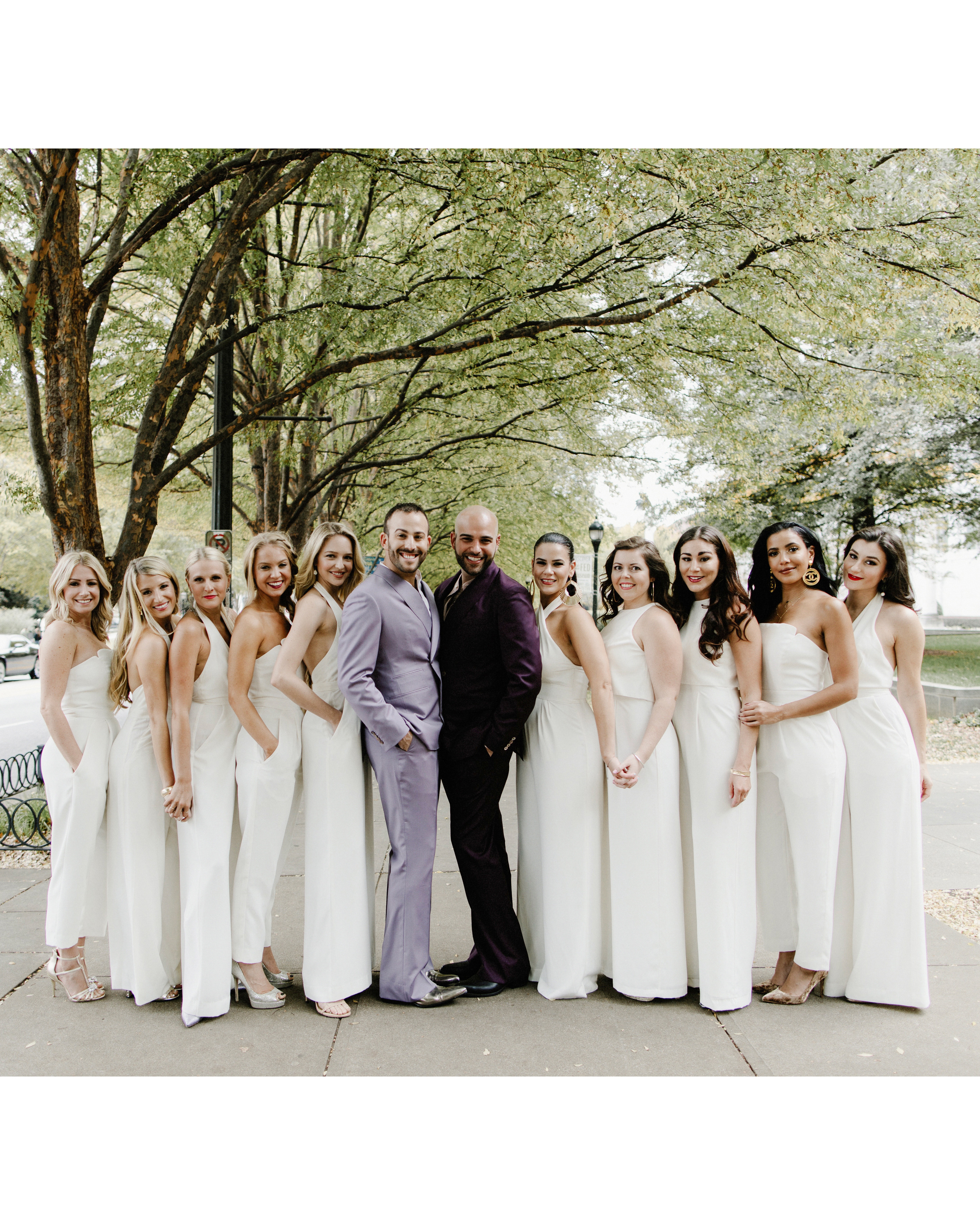 micah jason wedding groomsmaids same sex jewish