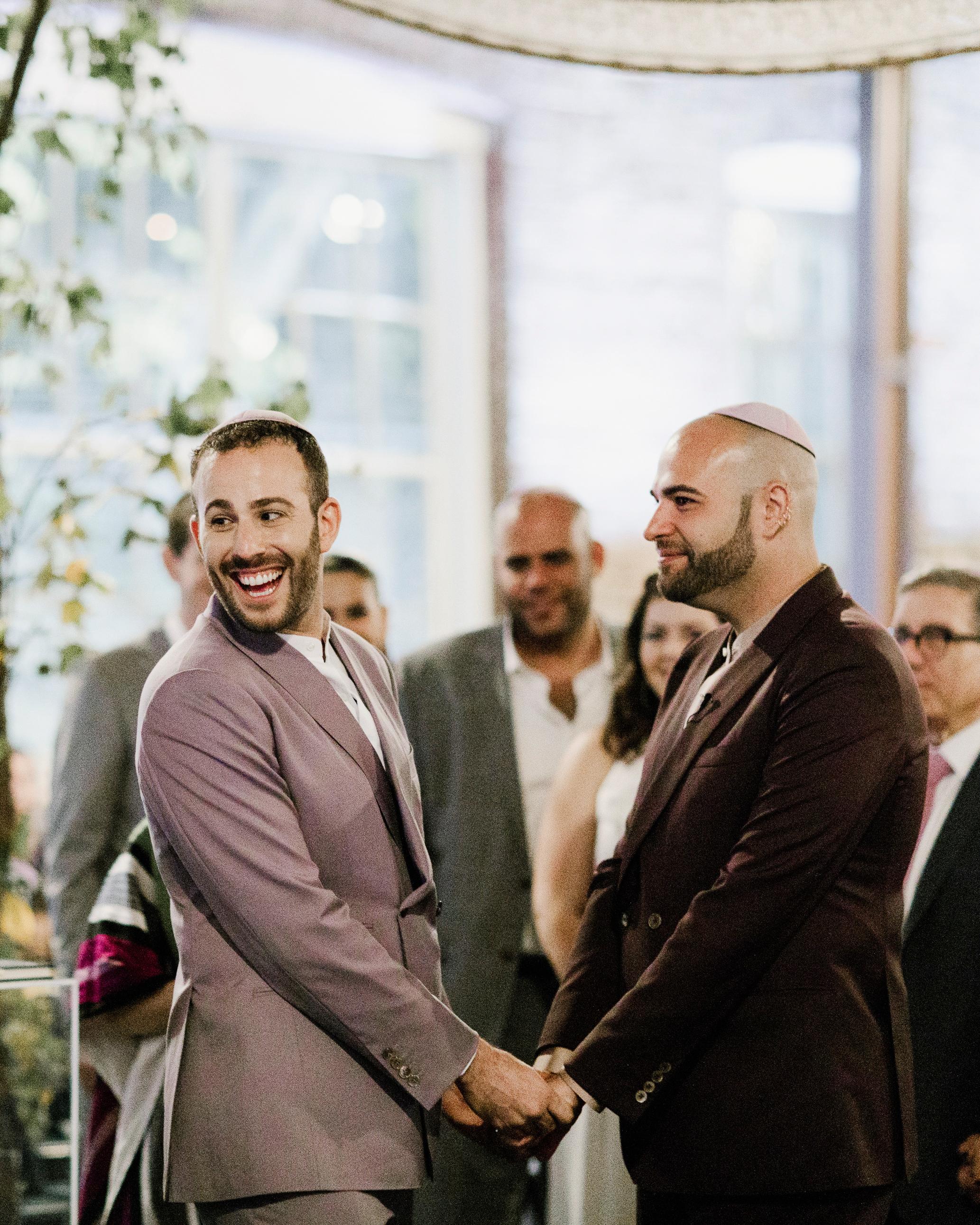 micah jason wedding grooms ceremony same sex jewish