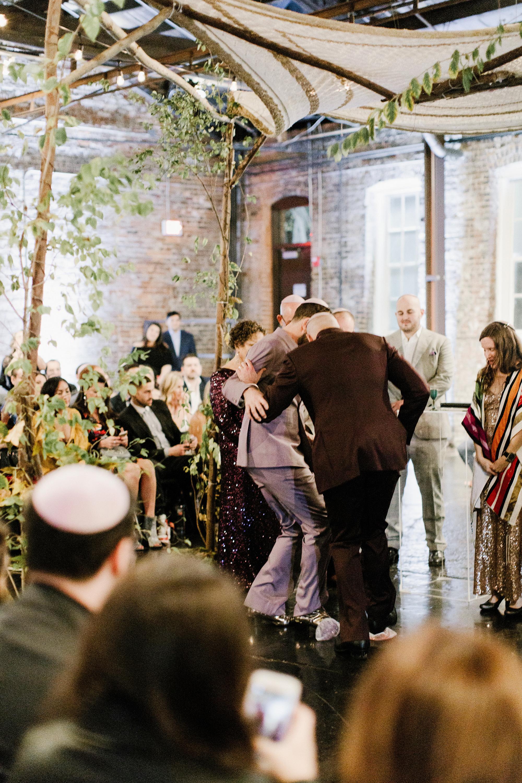 micah jason wedding wedding ceremony glass same sex jewish