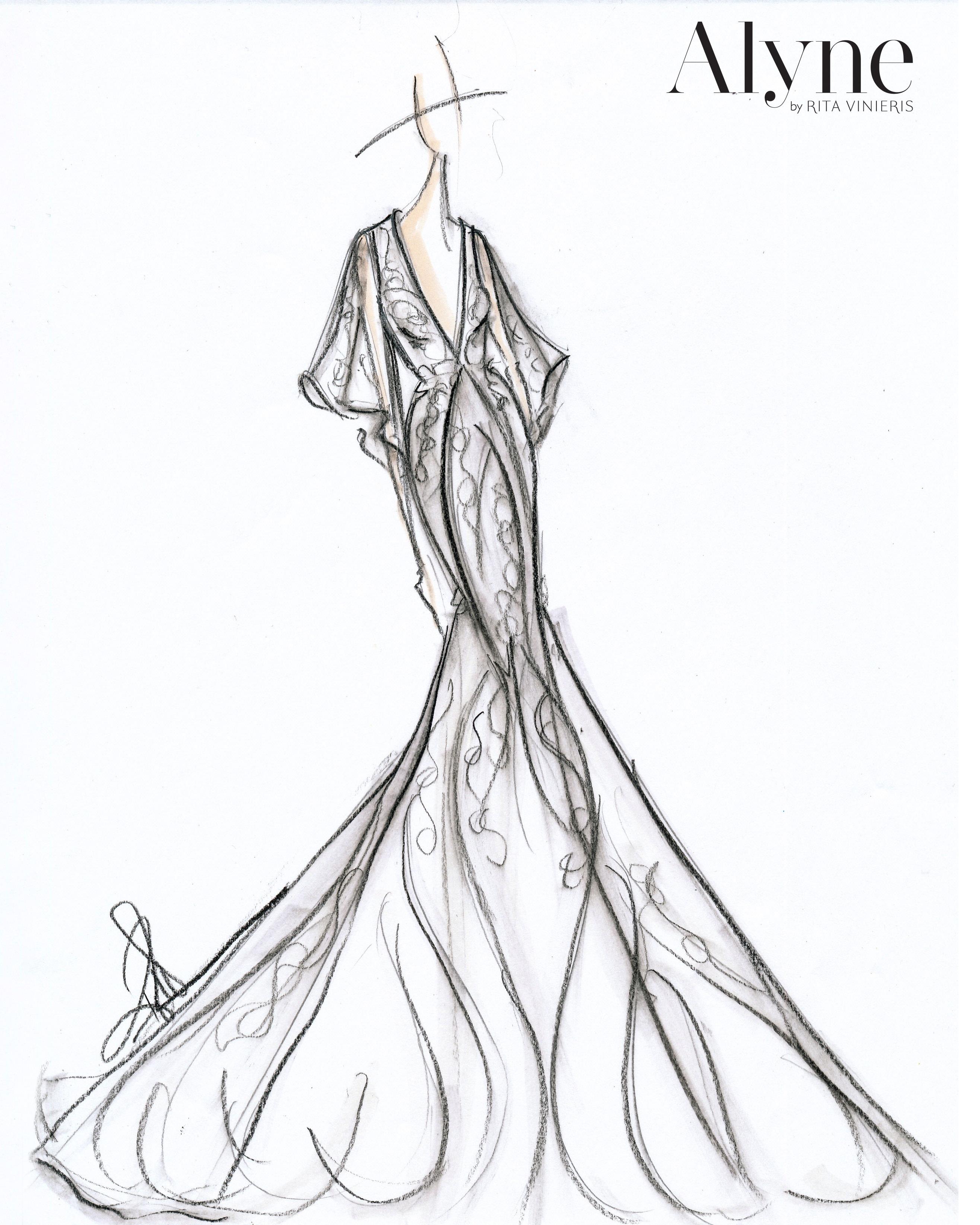 bridal fashion week sketches fall 2019 alyne