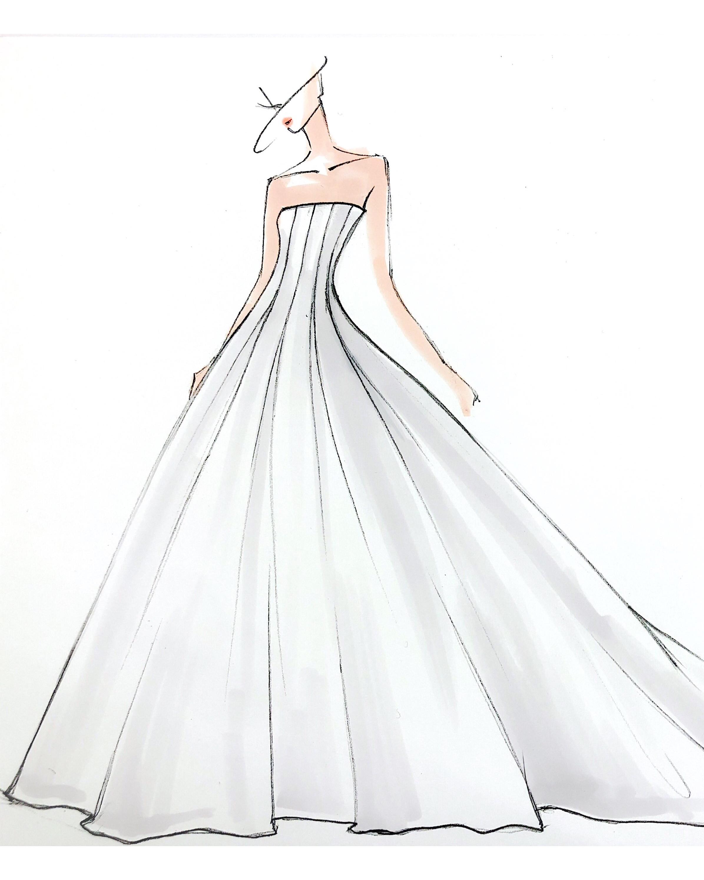 bridal fashion week sketches fall 2019 amsale