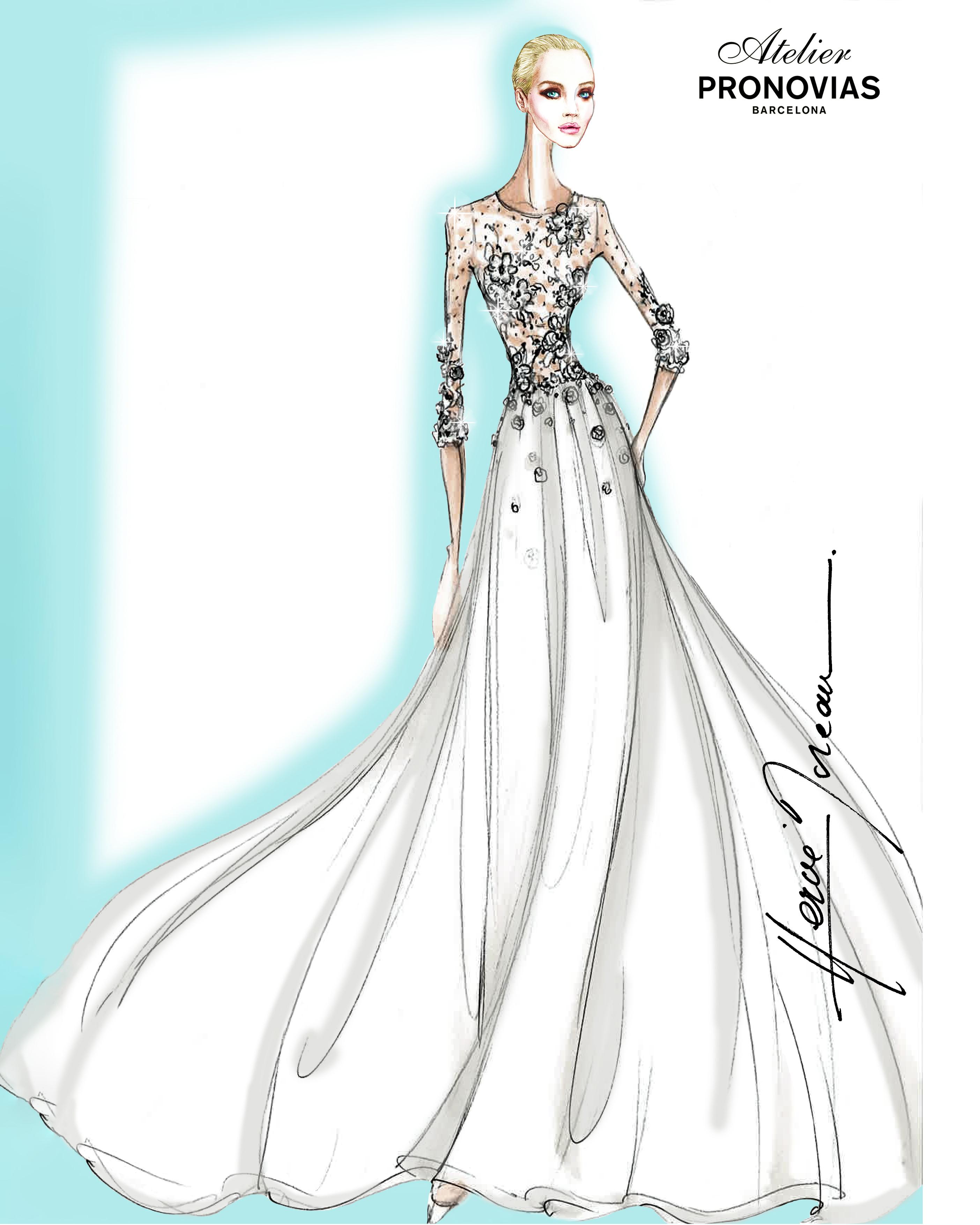 bridal fashion week sketches fall 2019 pronovias