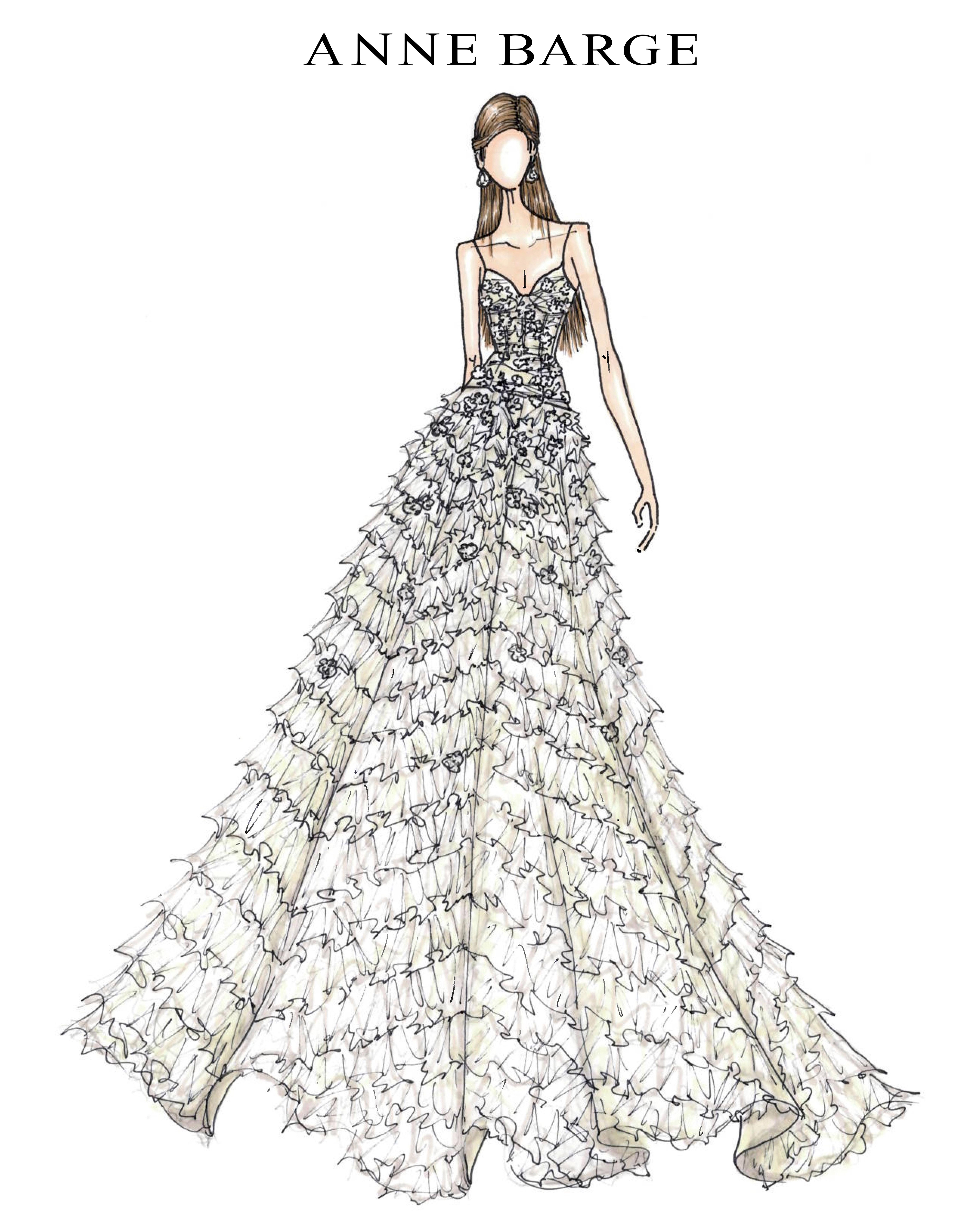 bridal fashion week sketches fall 2019 anne barge