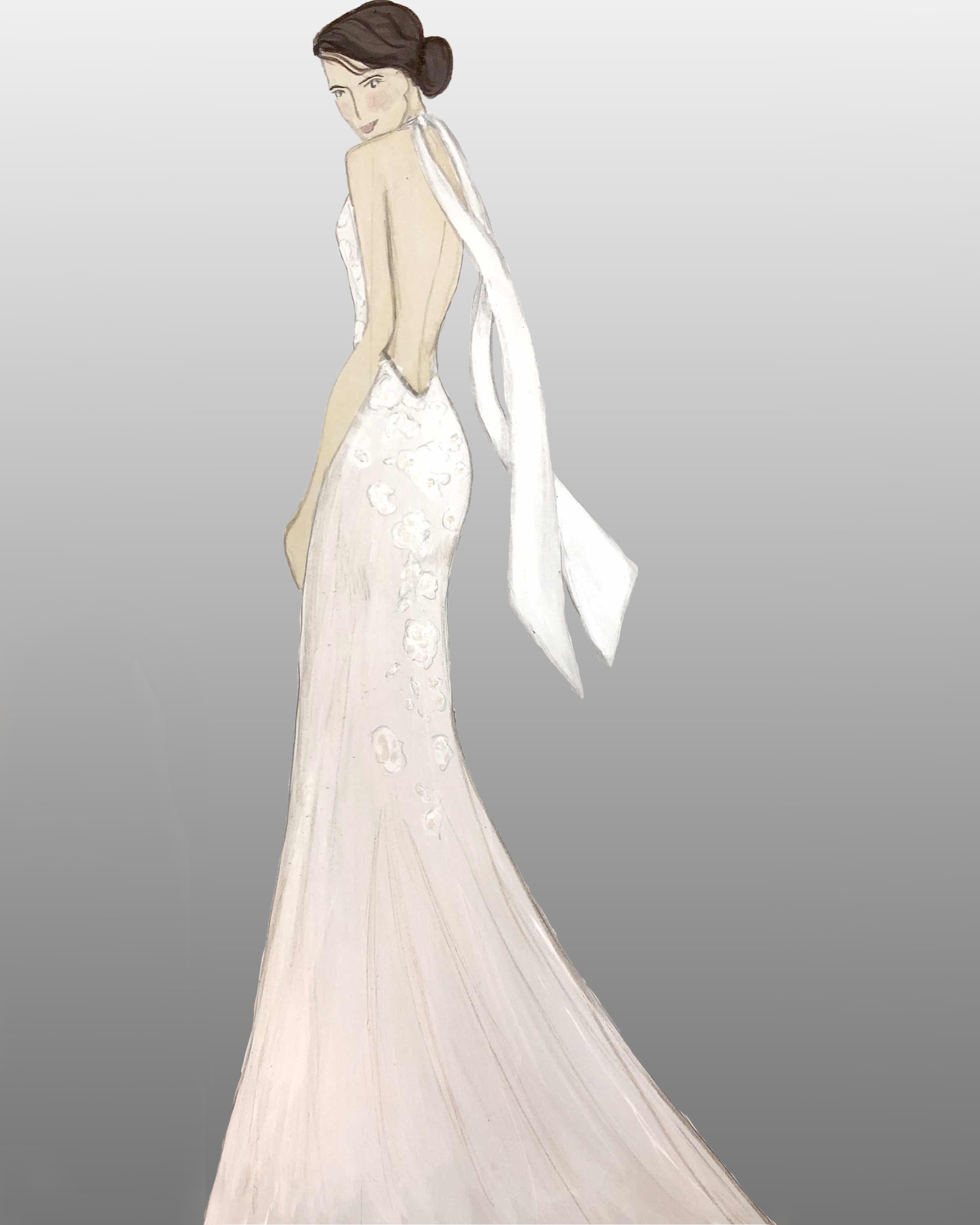 bridal fashion week sketches fall 2019 azul by liancarlo