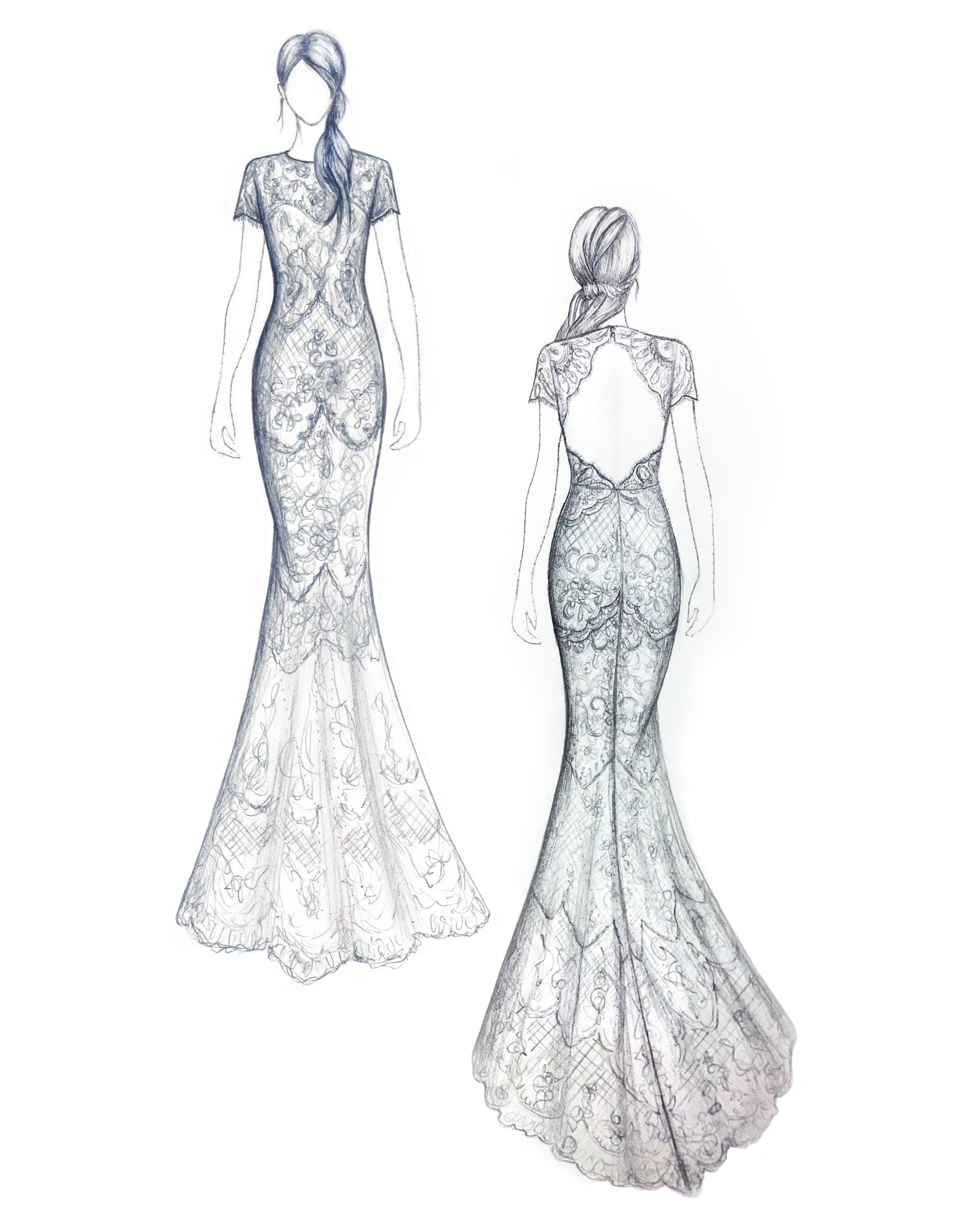 bridal fashion week sketches fall 2019 catherine deane