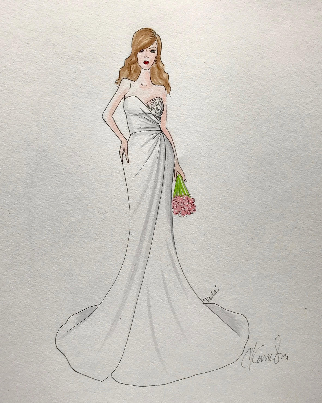 bridal fashion week sketches fall 2019 catherine kowalski