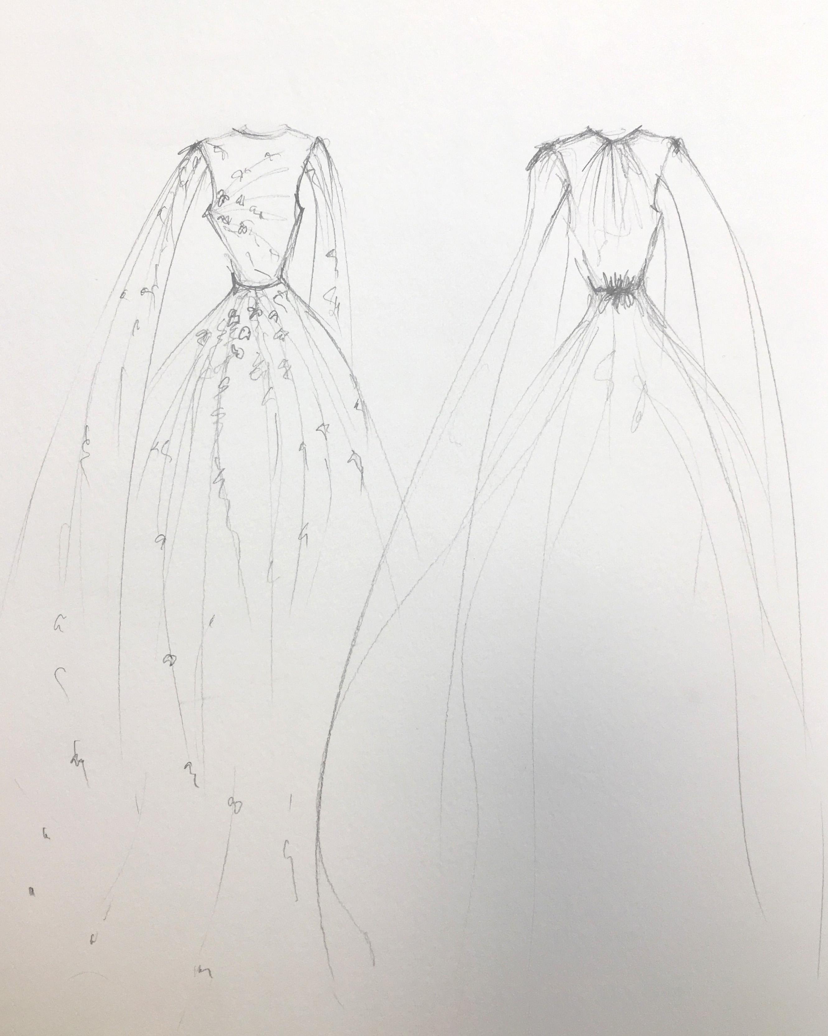 bridal fashion week sketches fall 2019 daalarna couture