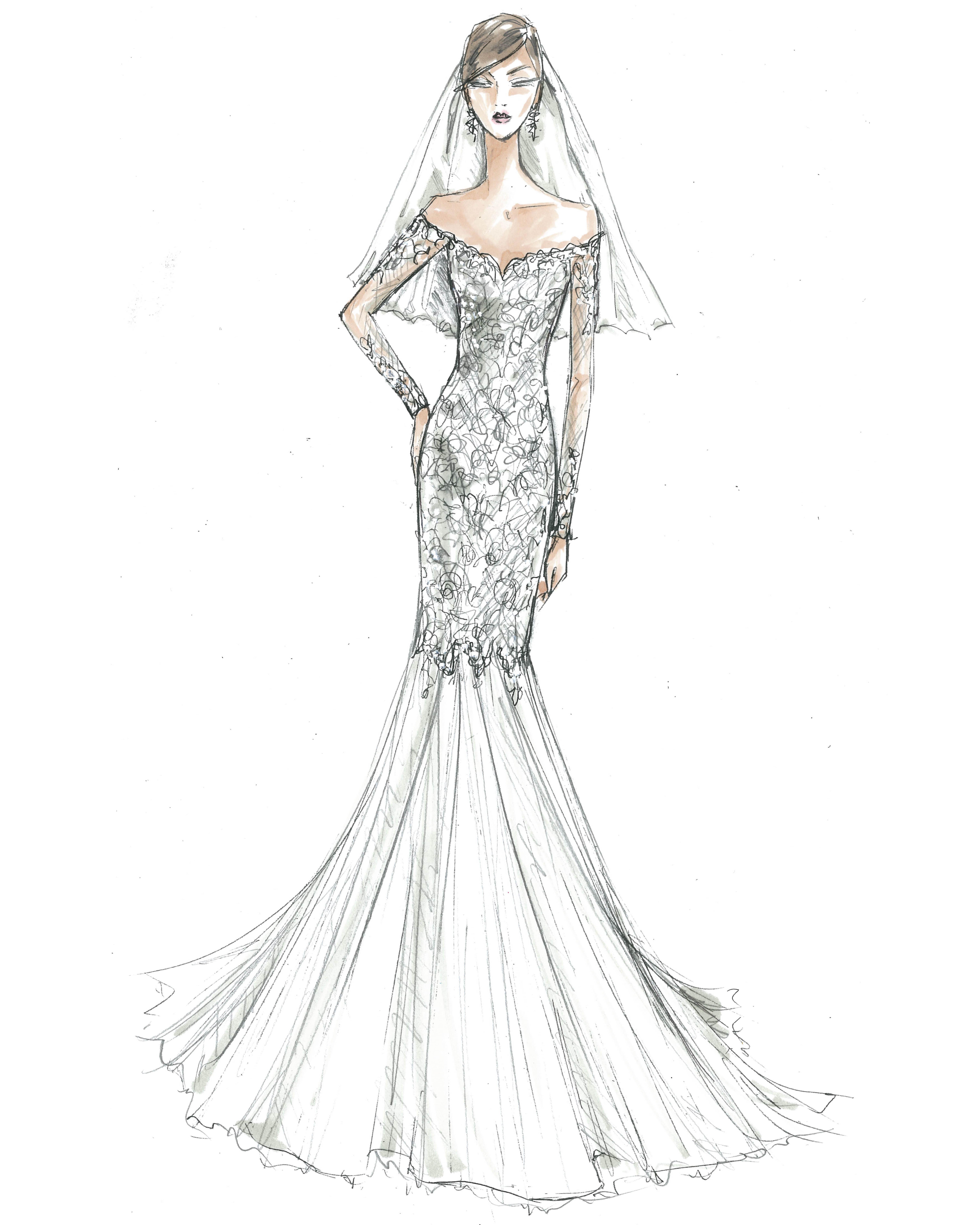 bridal fashion week sketches fall 2019 davids bridal