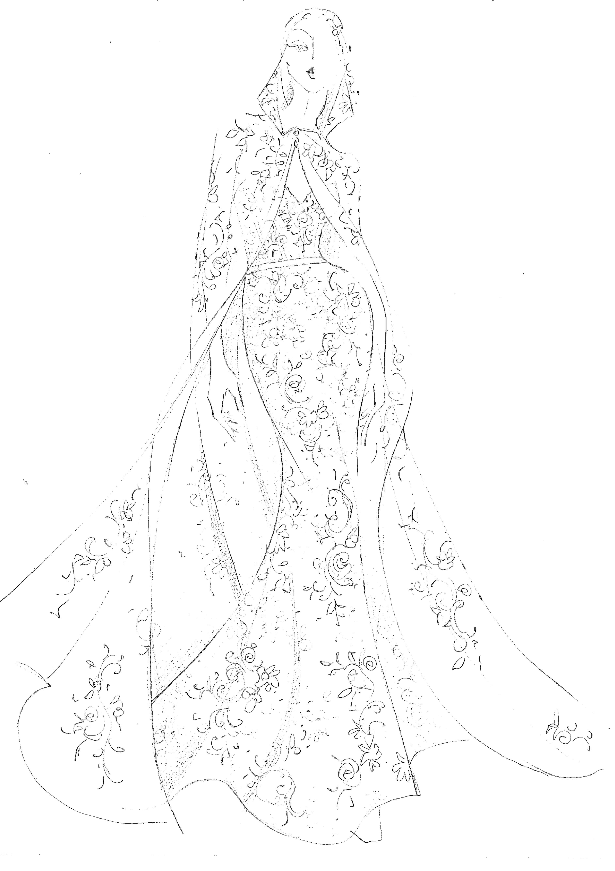 Demitrios Fall 2019 Bridal Fashion Week Sketches