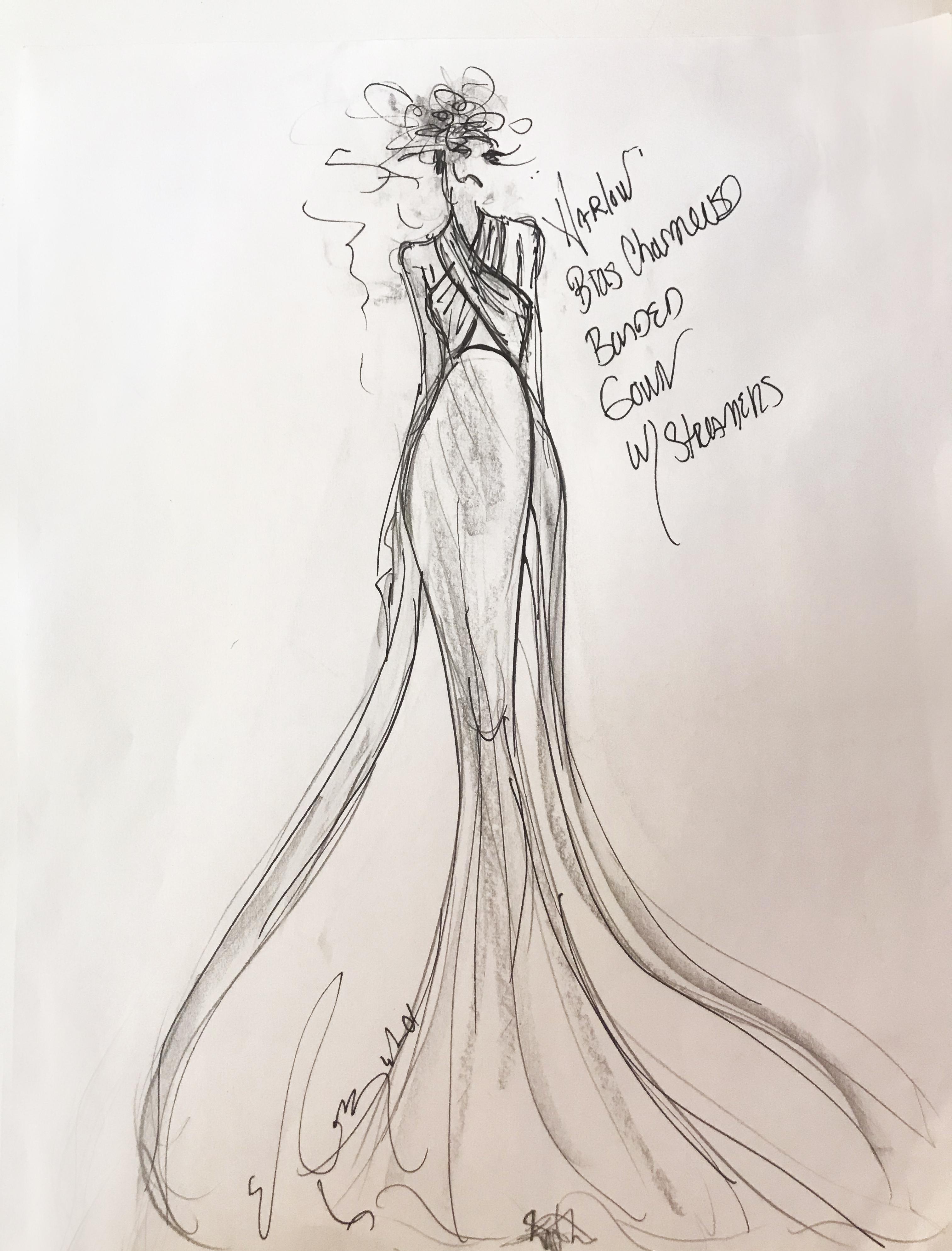 Elizabeth Fillmore Fall 2019 Bridal Fashion Week Sketch