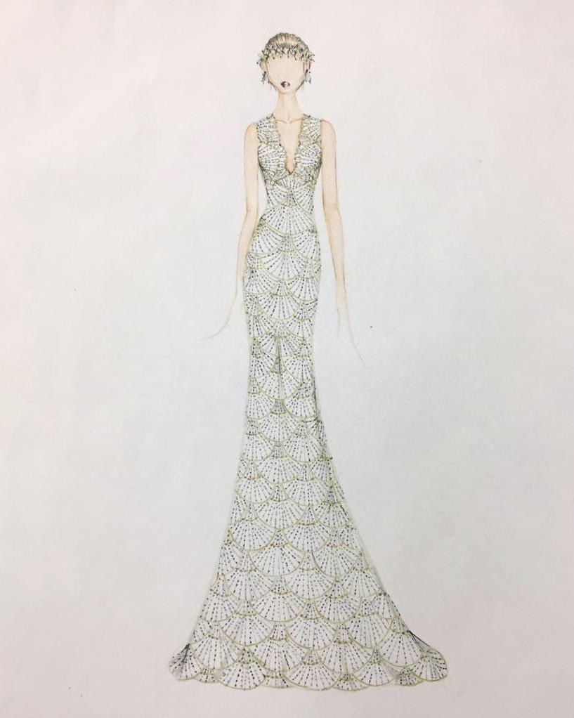 bridal fashion week sketches fall 2019 francesca miranda