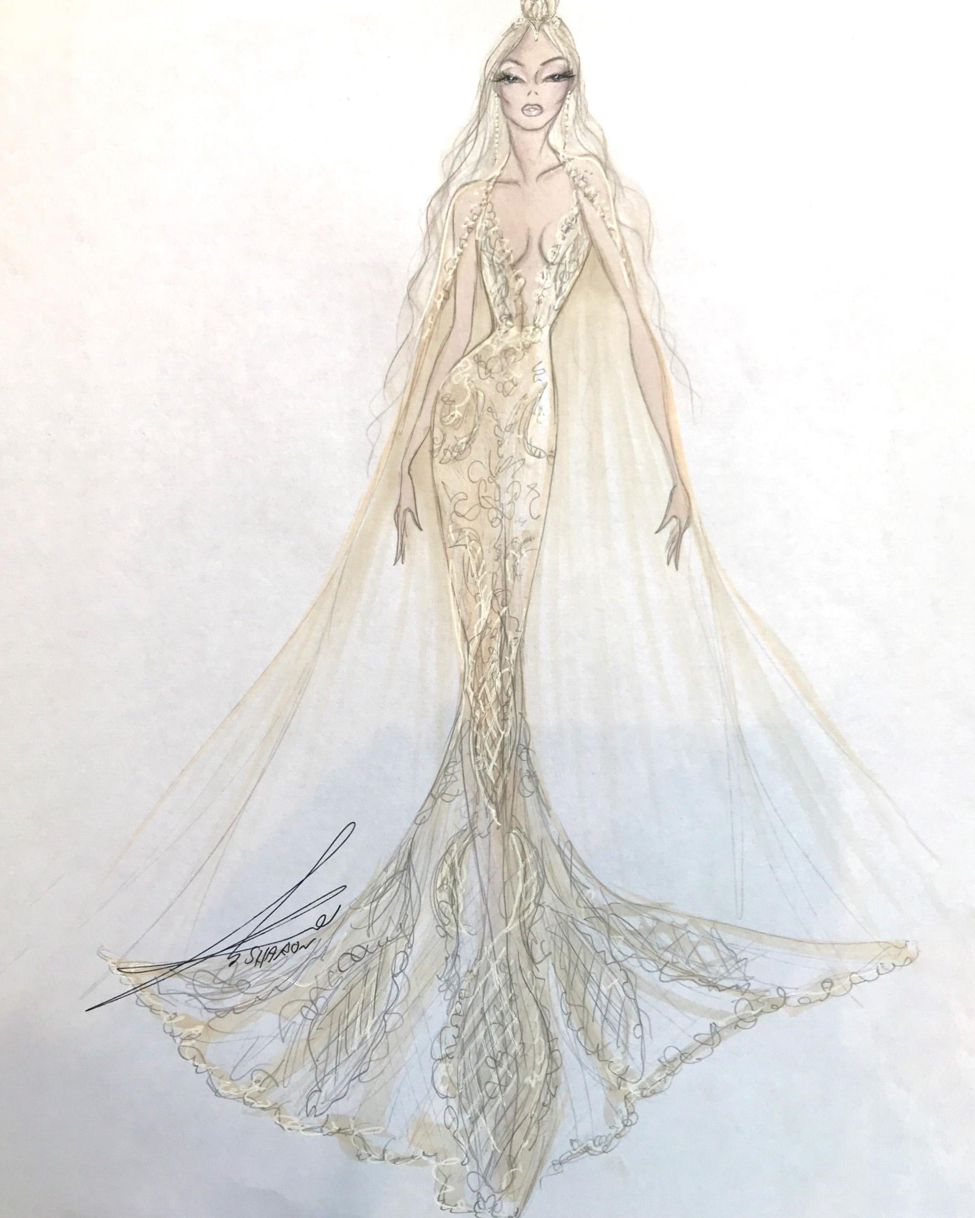 bridal fashion week sketches fall 2019 gala by galia lahav