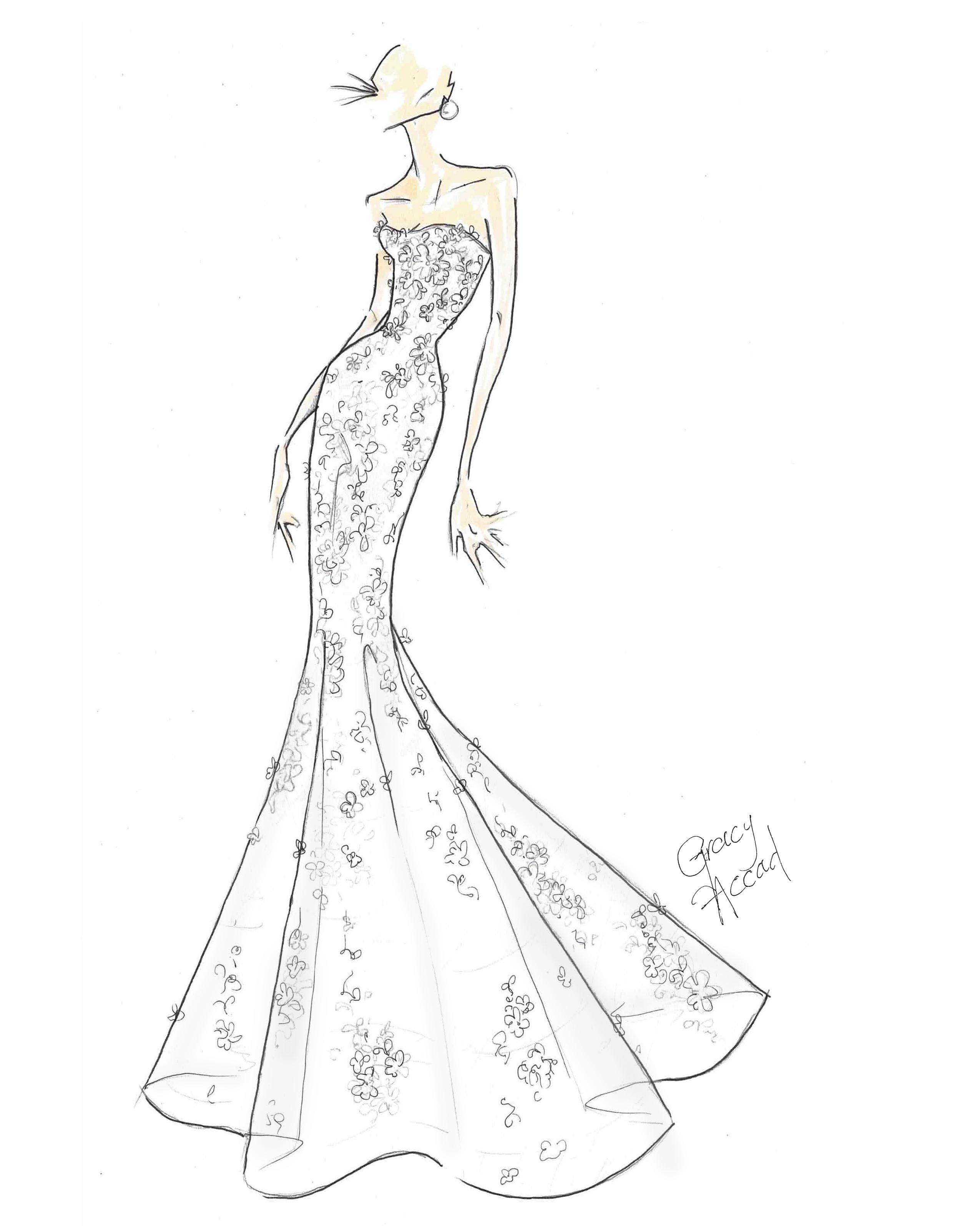 bridal fashion week sketches fall 2019 gracy accad