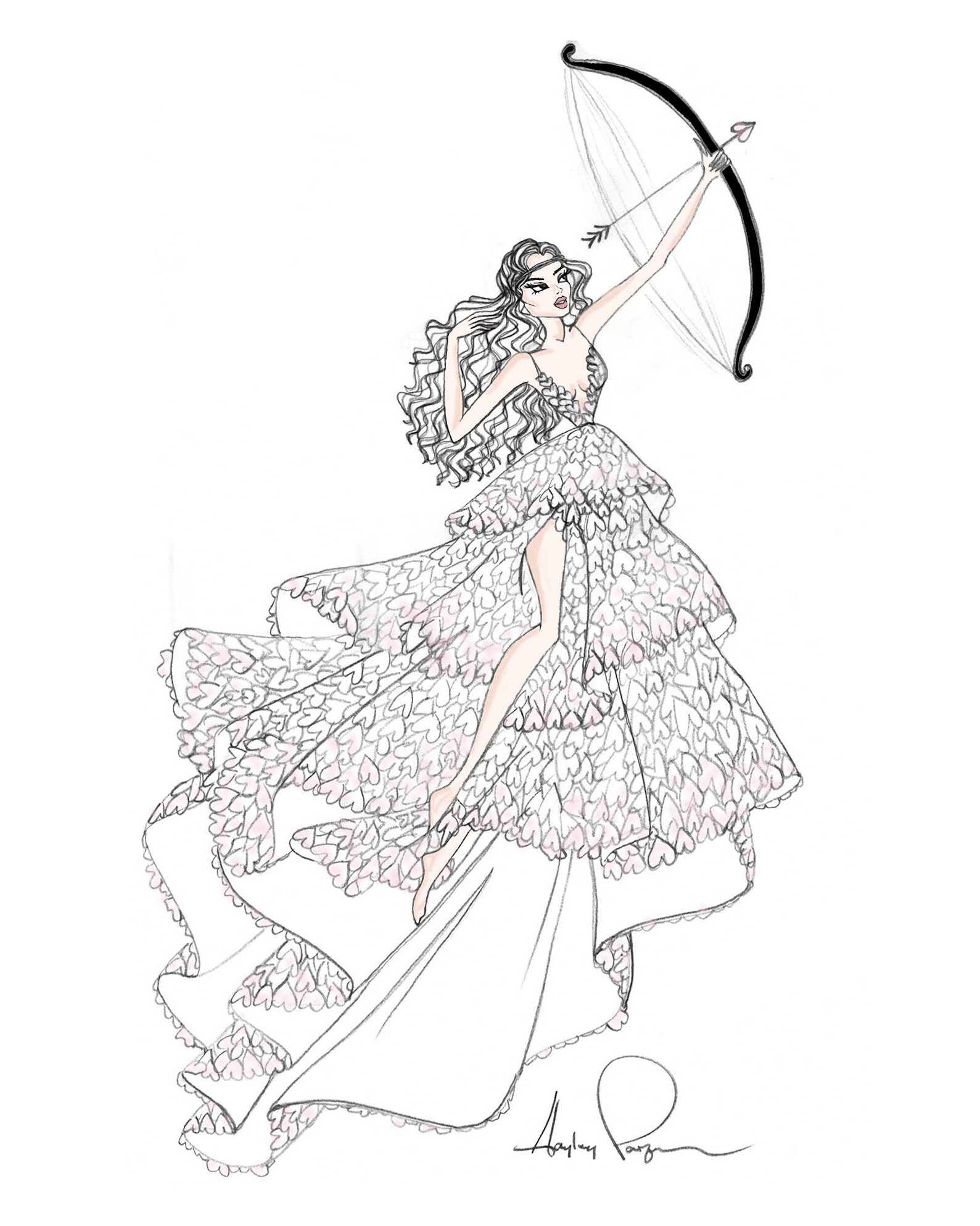 bridal fashion week sketches fall 2019 hayley paige
