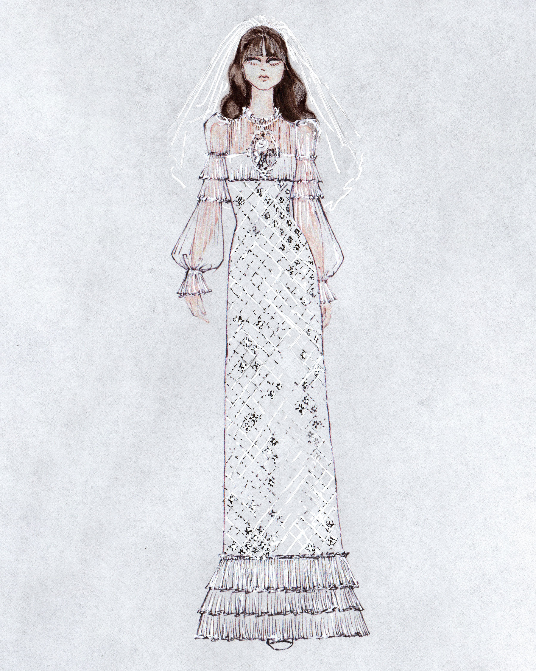 bridal fashion week sketches fall 2019 honor