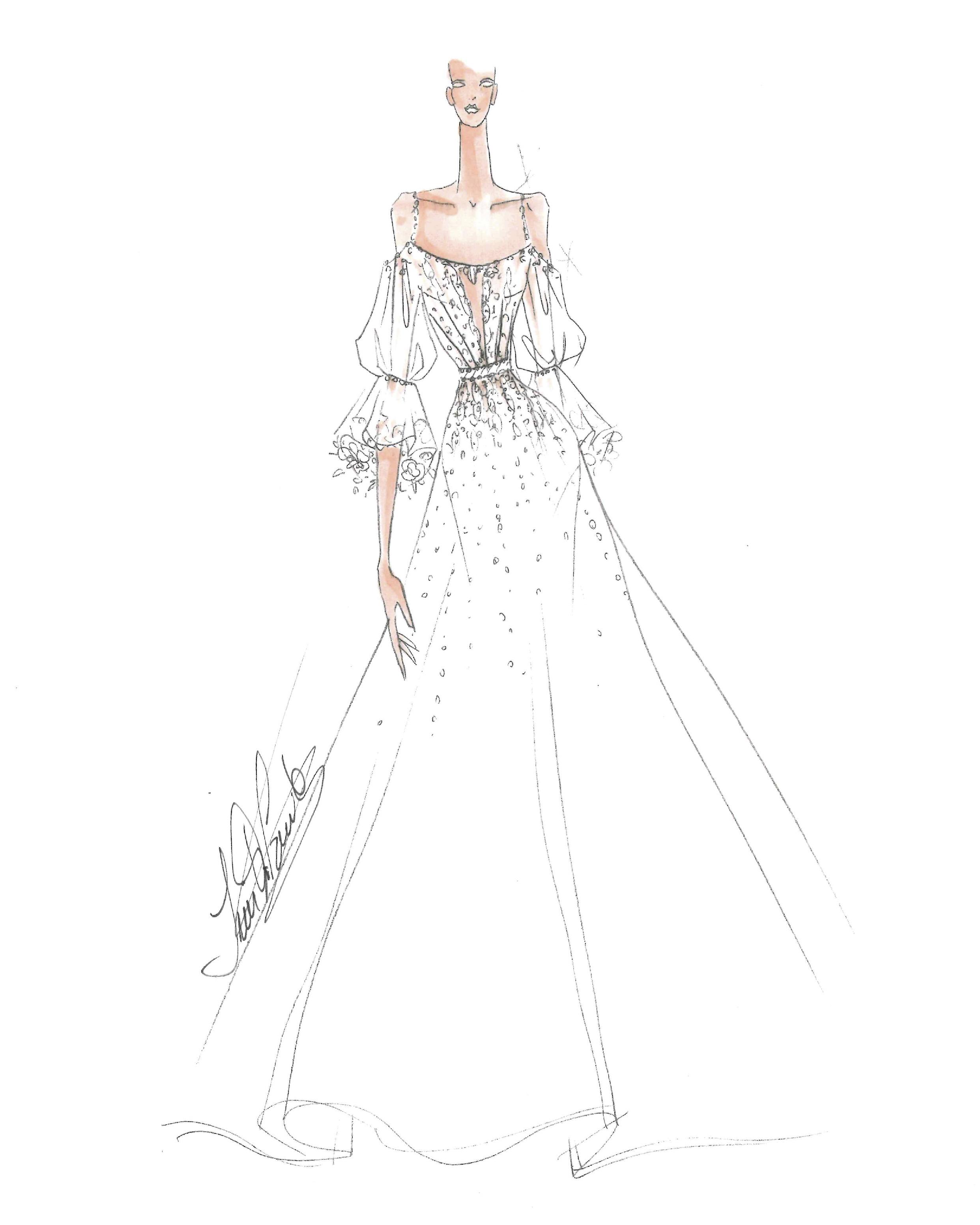 bridal fashion week sketches fall 2019 ines di santo