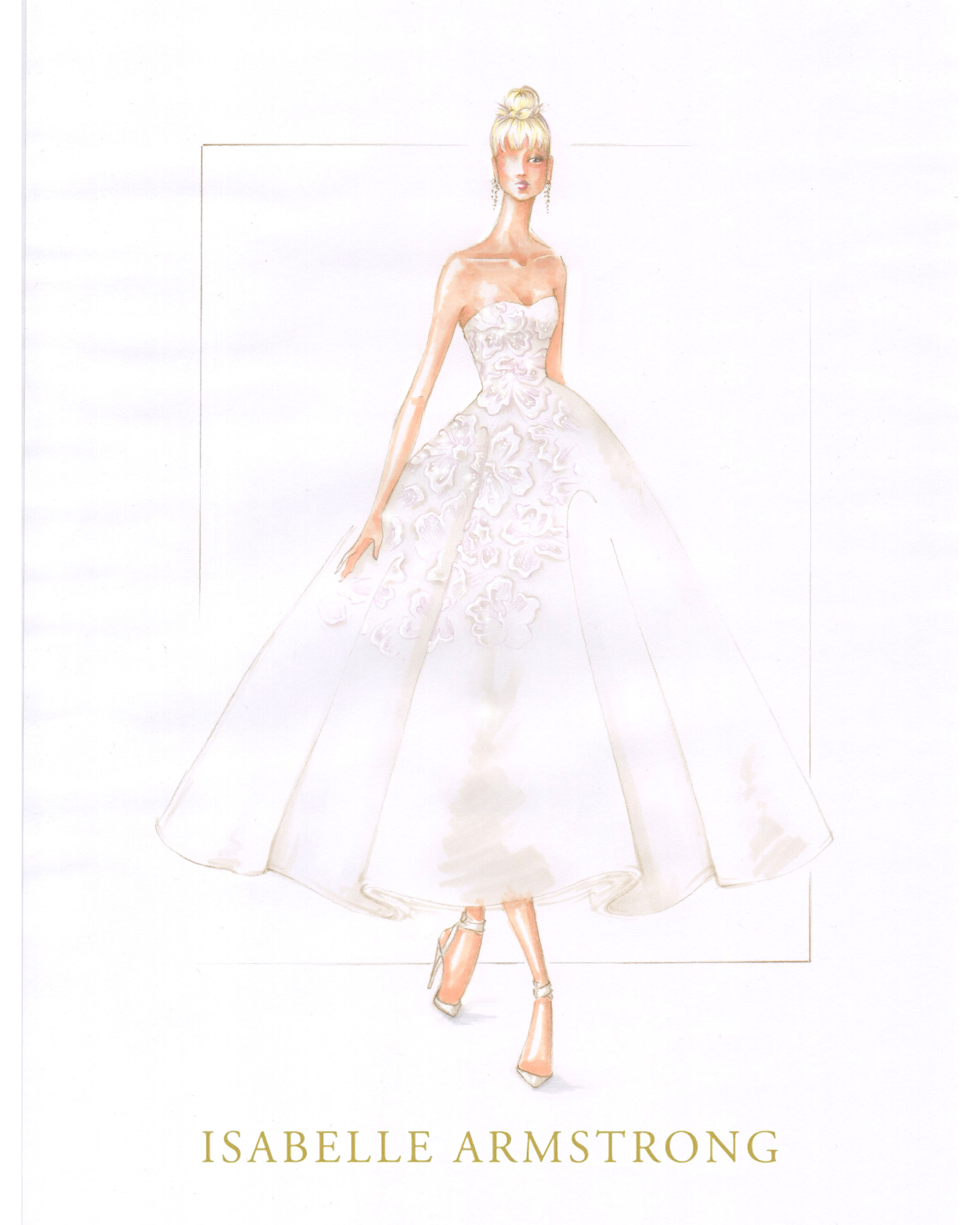 bridal fashion week sketches fall 2019 isabelle armstrong