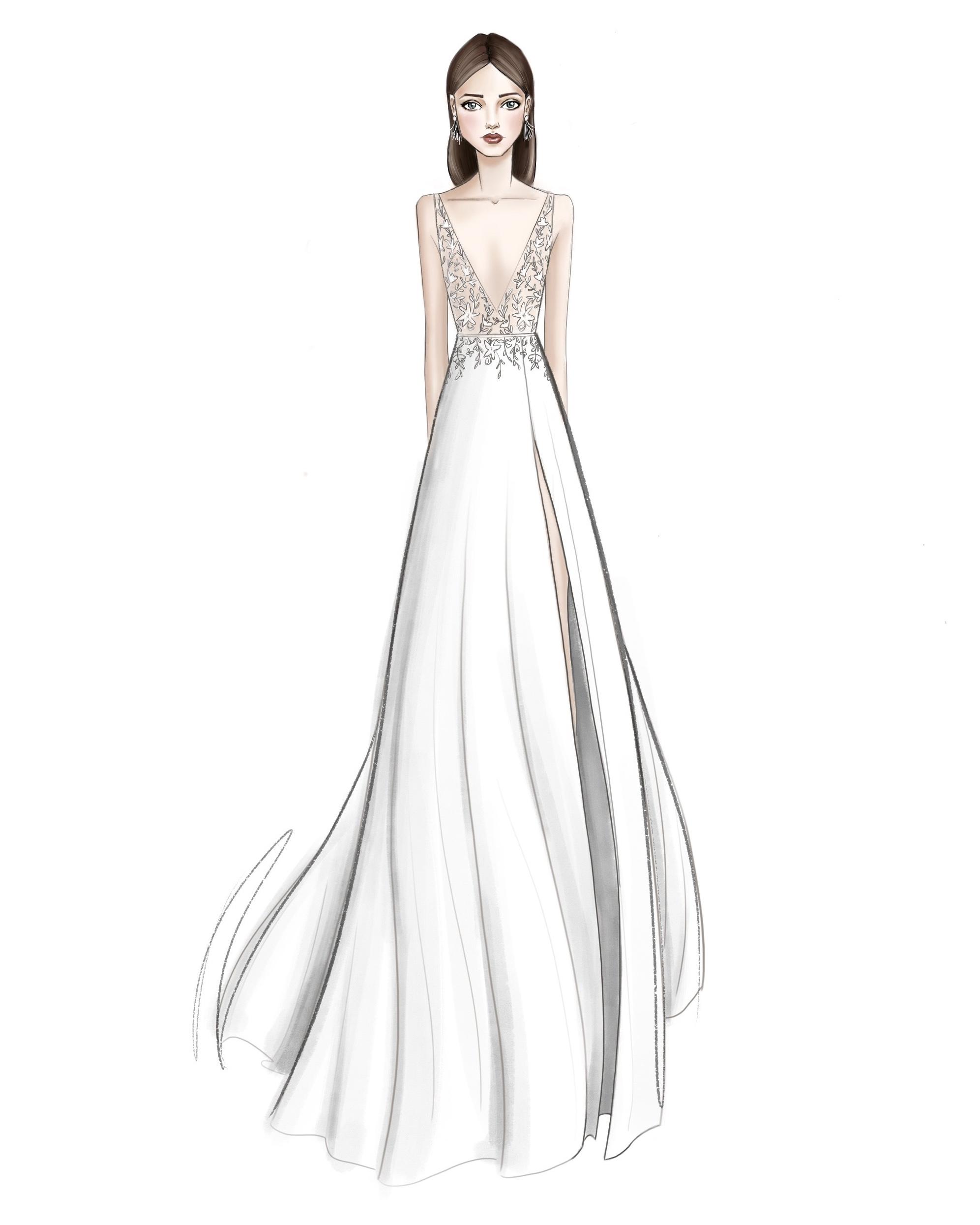 bridal fashion week sketches fall 2019 jenny by jenny yoo