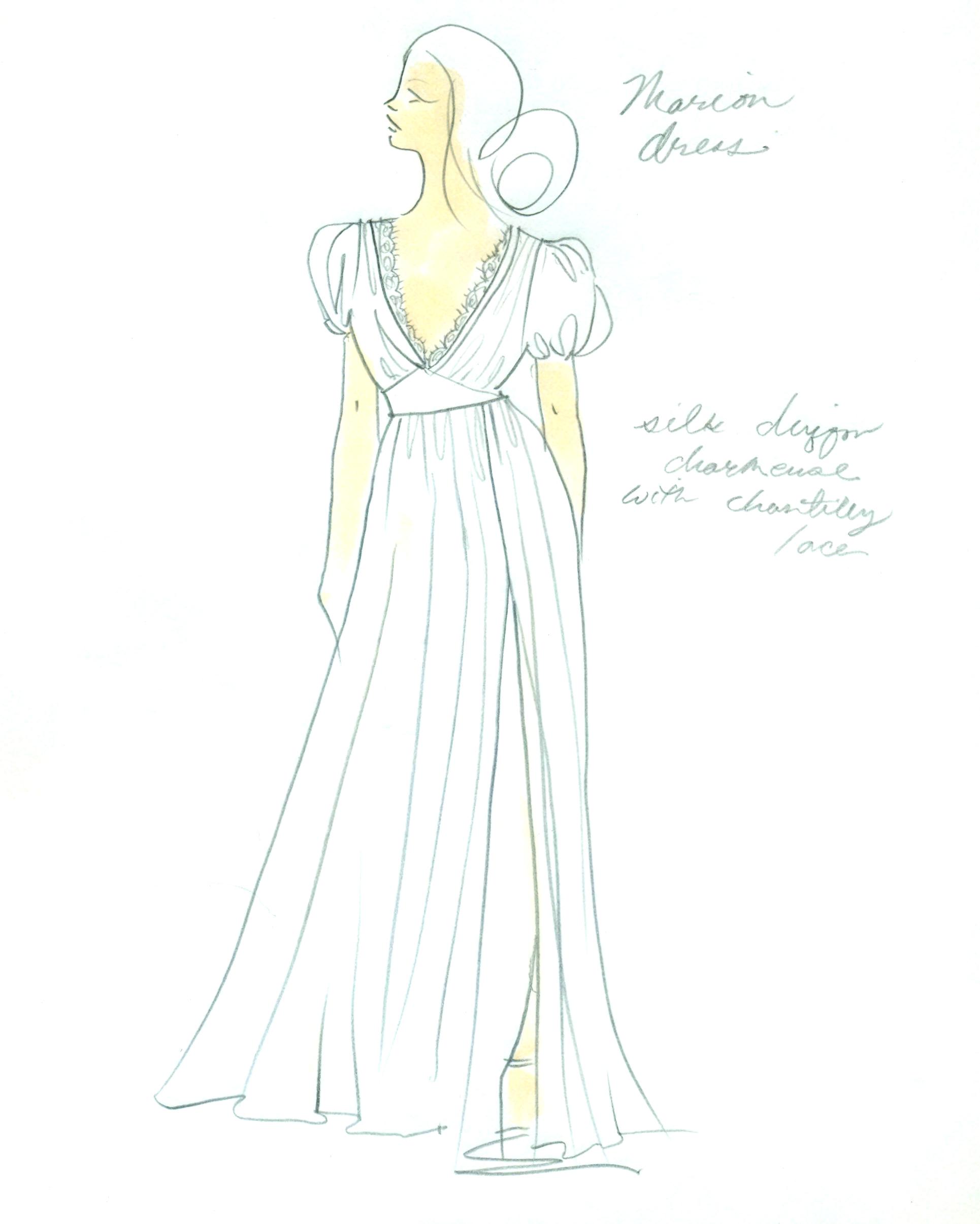 bridal fashion week sketches fall 2019 l wells