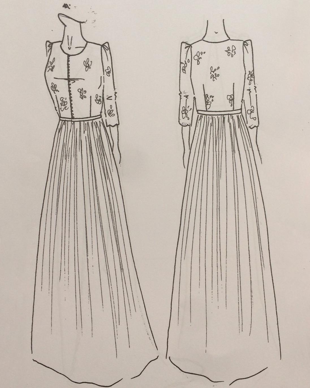 bridal fashion week sketches fall 2019 laure de sagazan