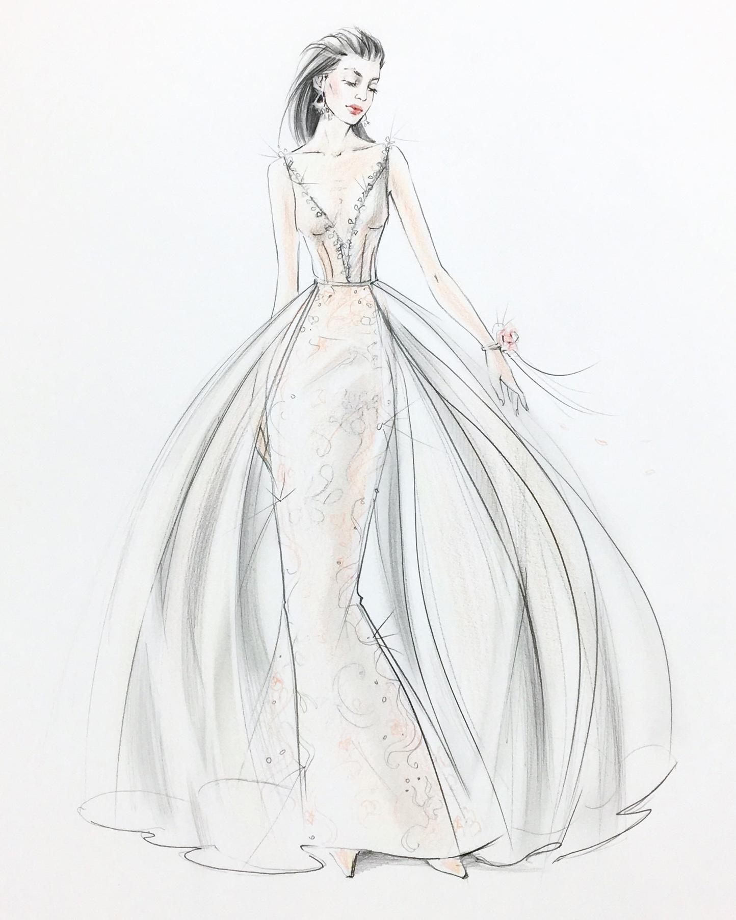 bridal fashion week sketches fall 2019 lavish by persy