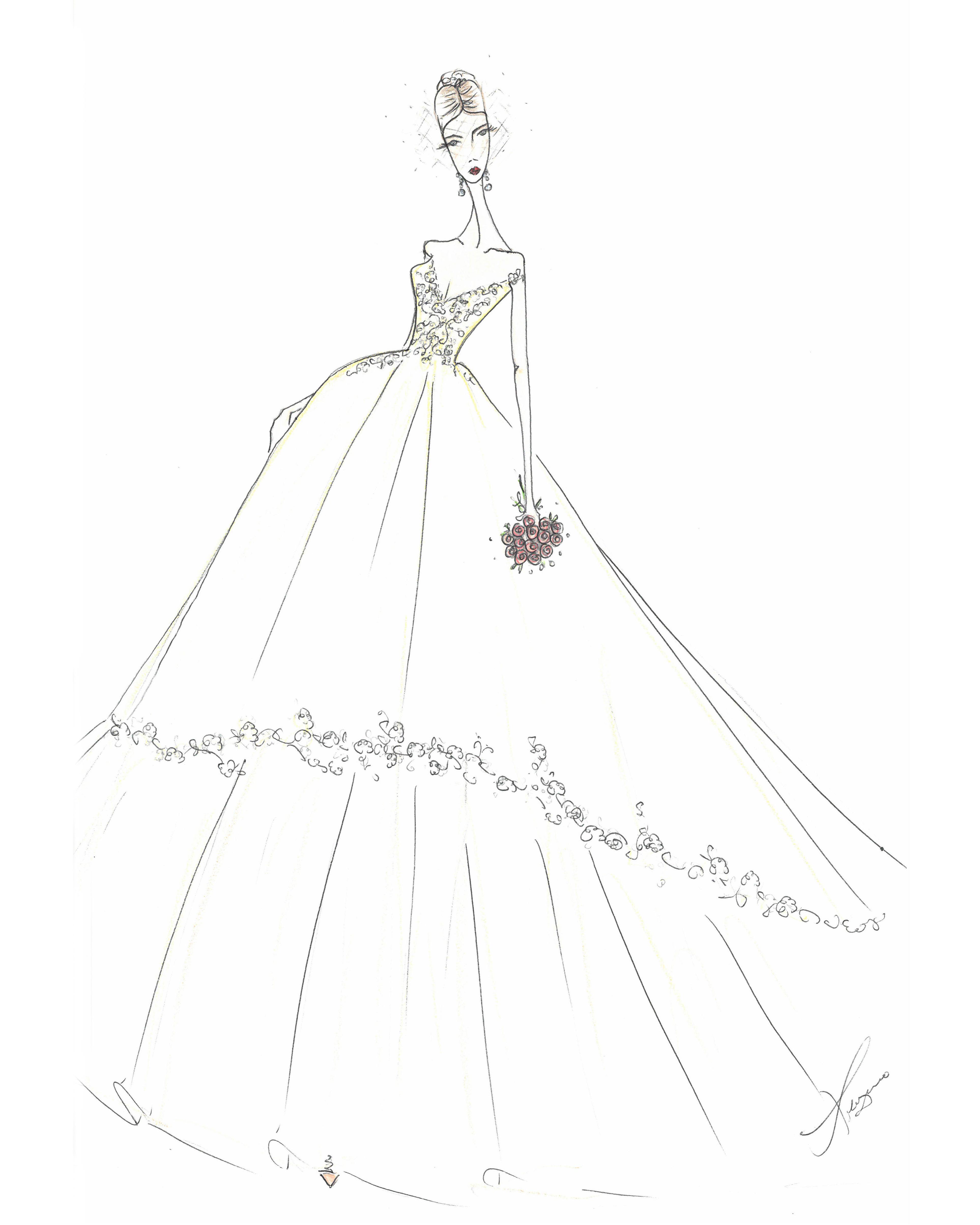 bridal fashion week sketches fall 2019 lazaro